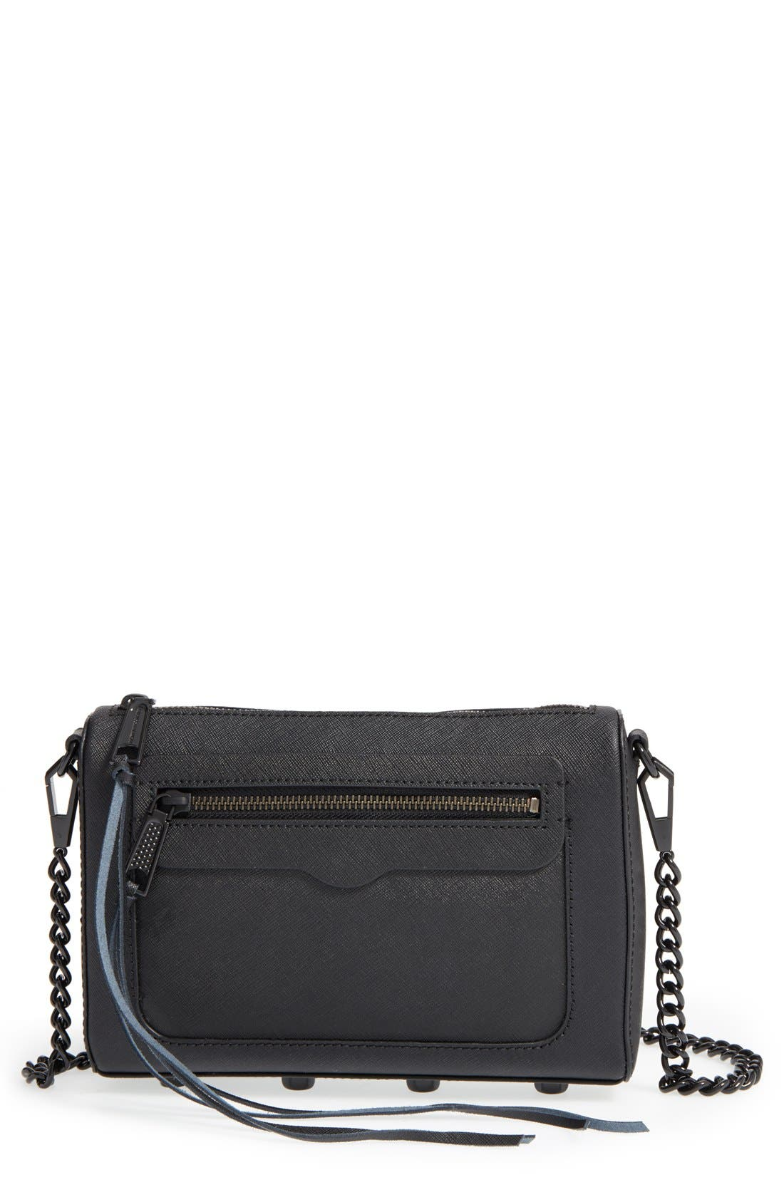 'Avery' Crossbody Bag,                             Main thumbnail 1, color,                             Black/ Black Hrdwr