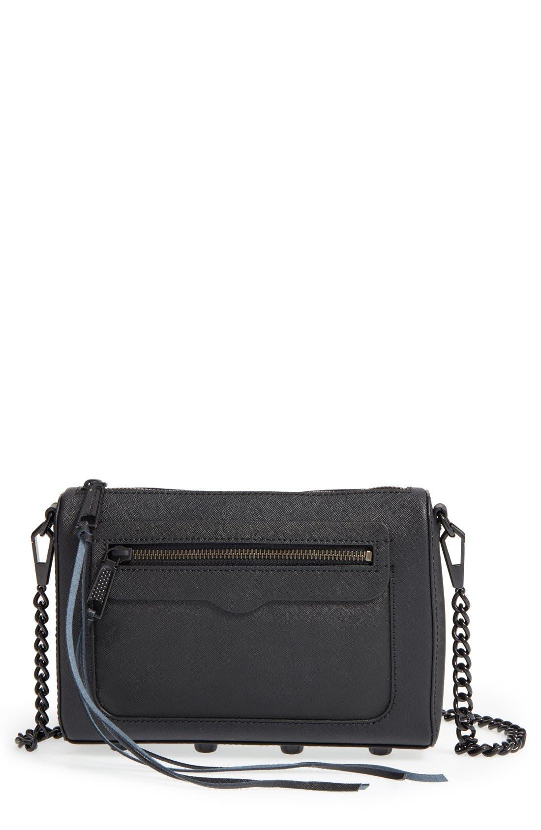 'Avery' Crossbody Bag,                         Main,                         color, Black/ Black Hrdwr