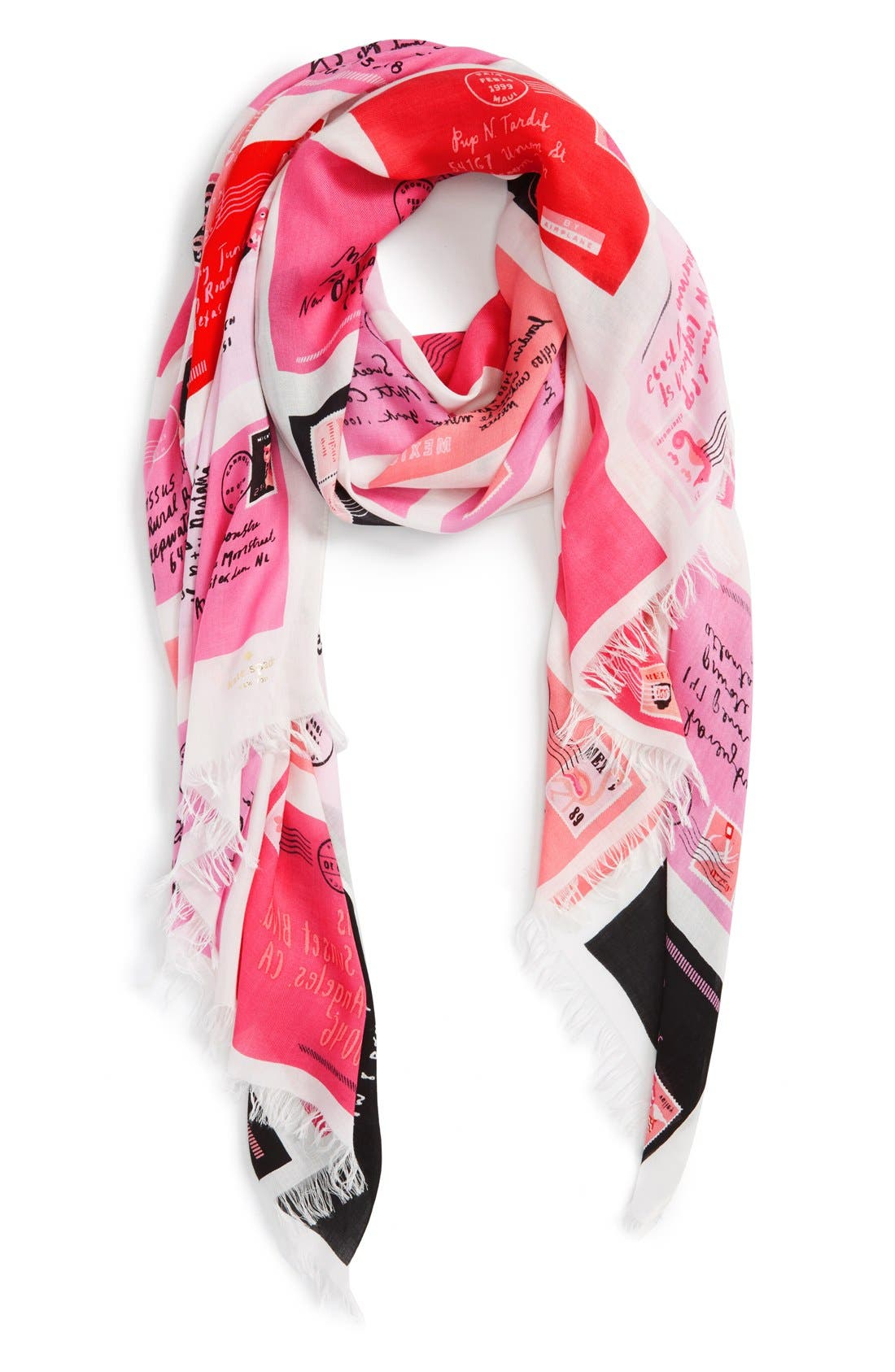 Main Image - kate spade new york 'love letters' oblong scarf