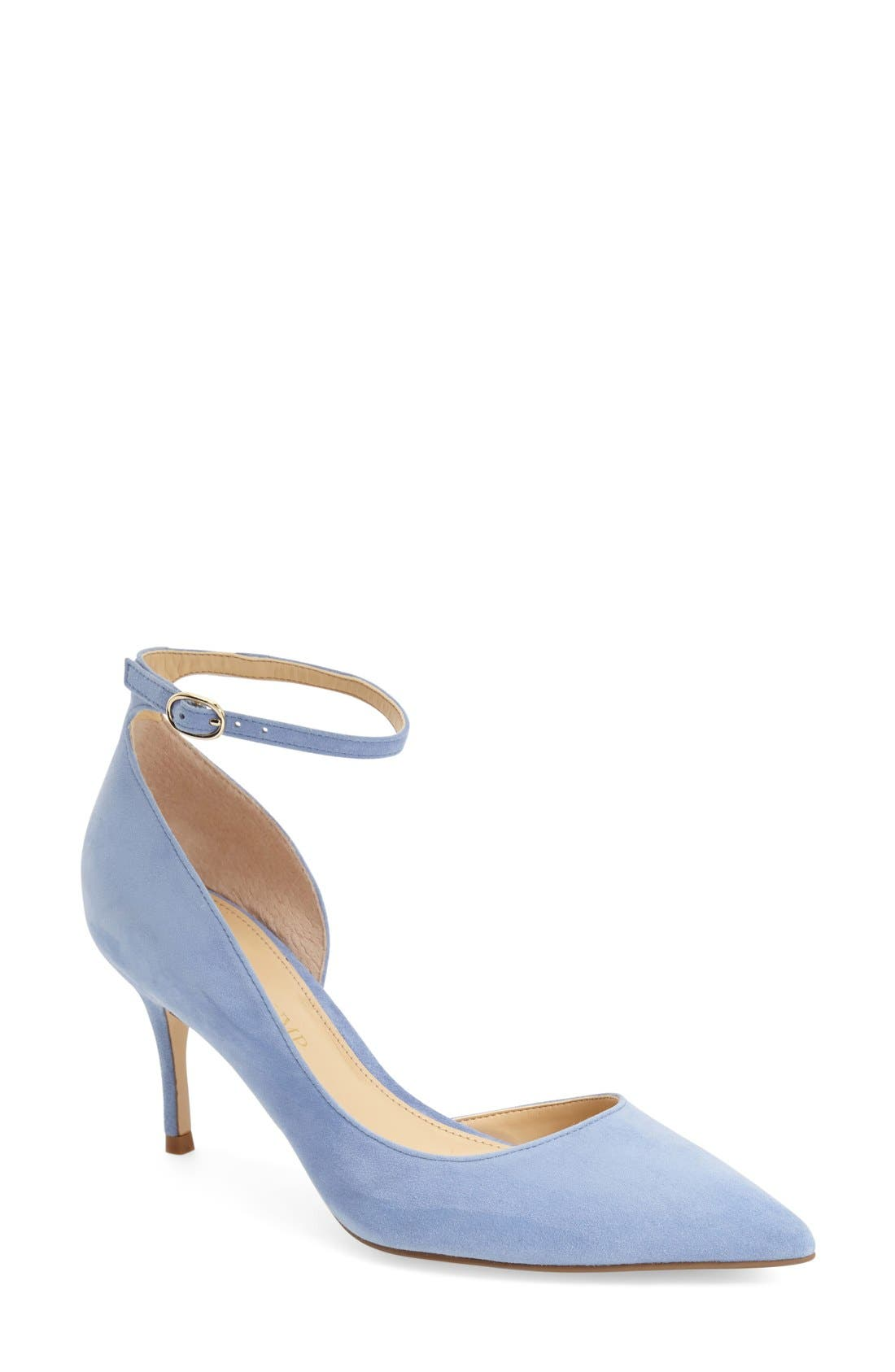 Alternate Image 1 Selected - Ivanka Trump 'Brita' Ankle Strap Pointy Toe Pump (Women)