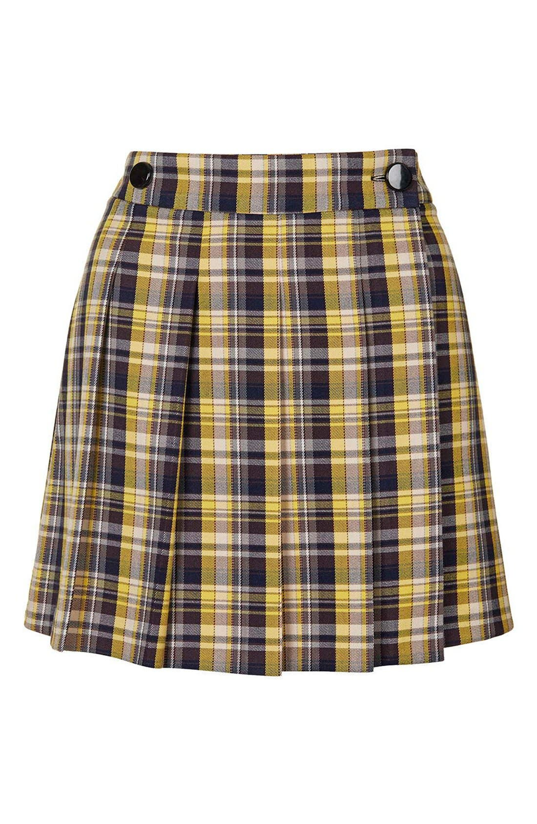 Alternate Image 4  - Topshop Plaid Kilt Miniskirt