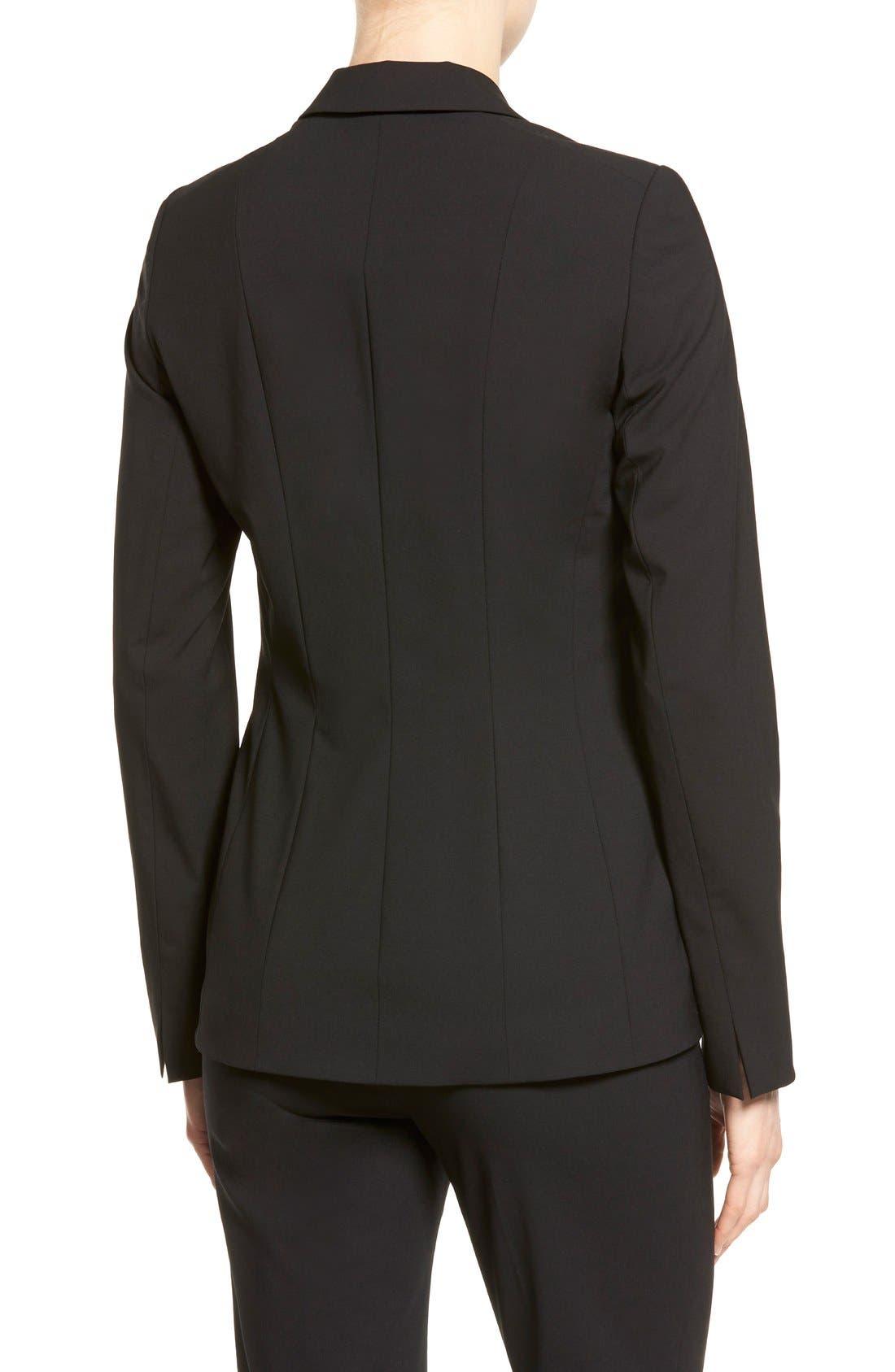 Alternate Image 2  - Lafayette 148 New York 'Rhonda' Stretch Wool Jacket