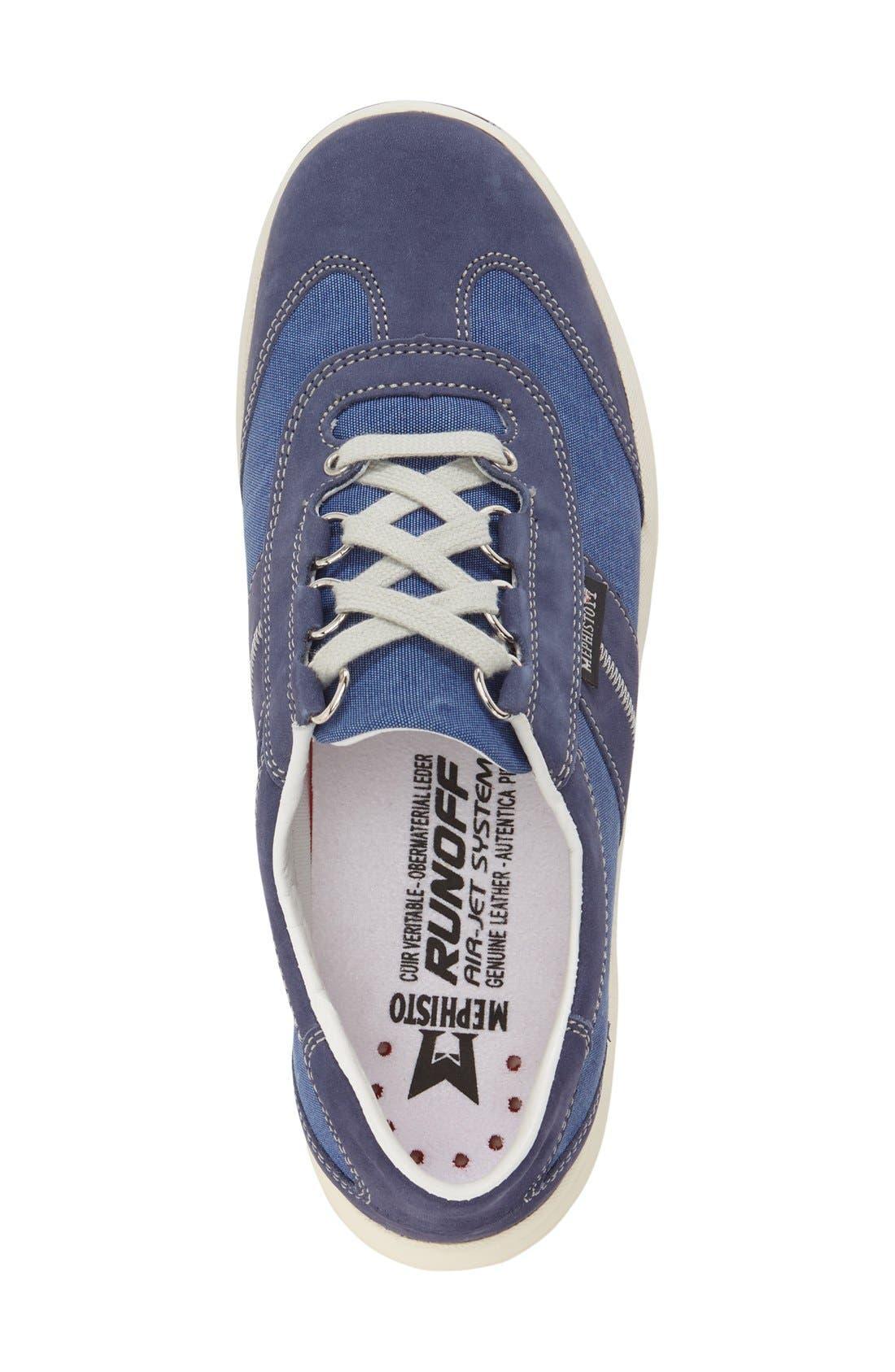'Laser' Walking Shoe,                             Alternate thumbnail 3, color,                             Indigo Leather
