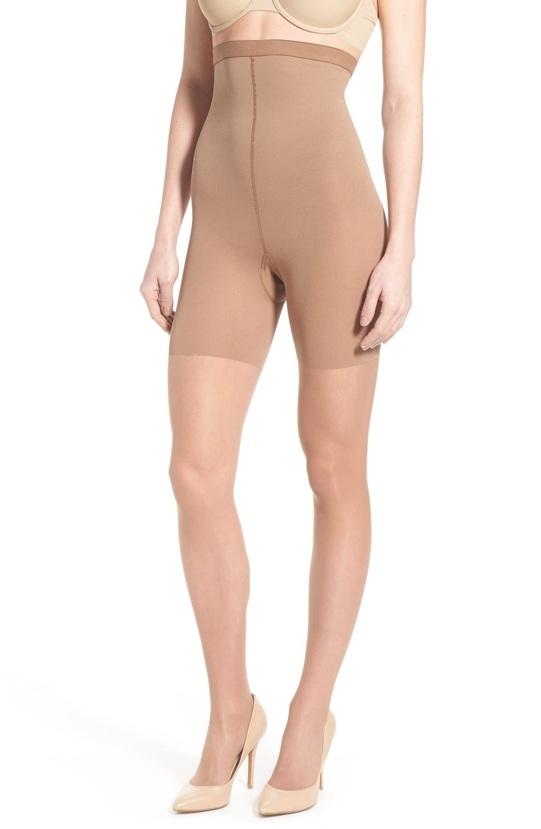 Luxe High Waist Shaping Pantyhose,                         Main,                         color, Nude 4