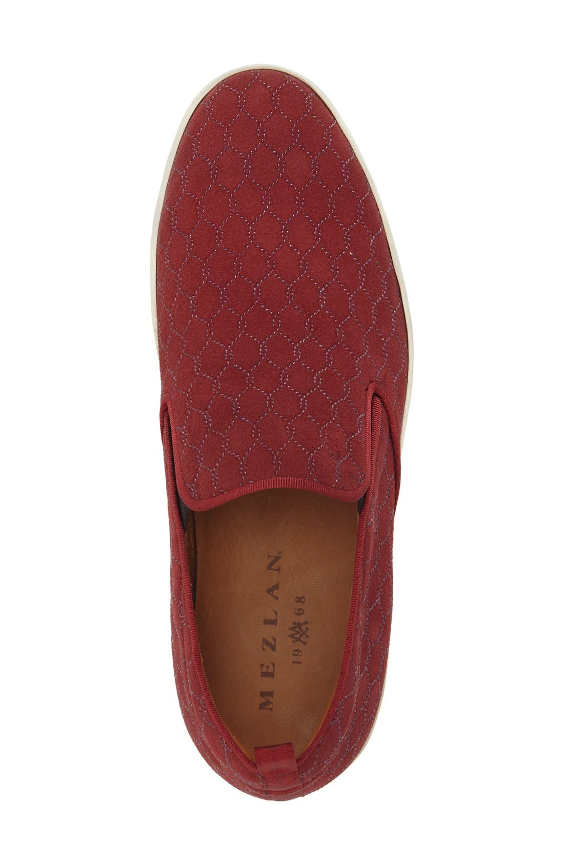 'Moneo' Slip-On,                             Alternate thumbnail 3, color,                             Burgundy Patterned Fabrc