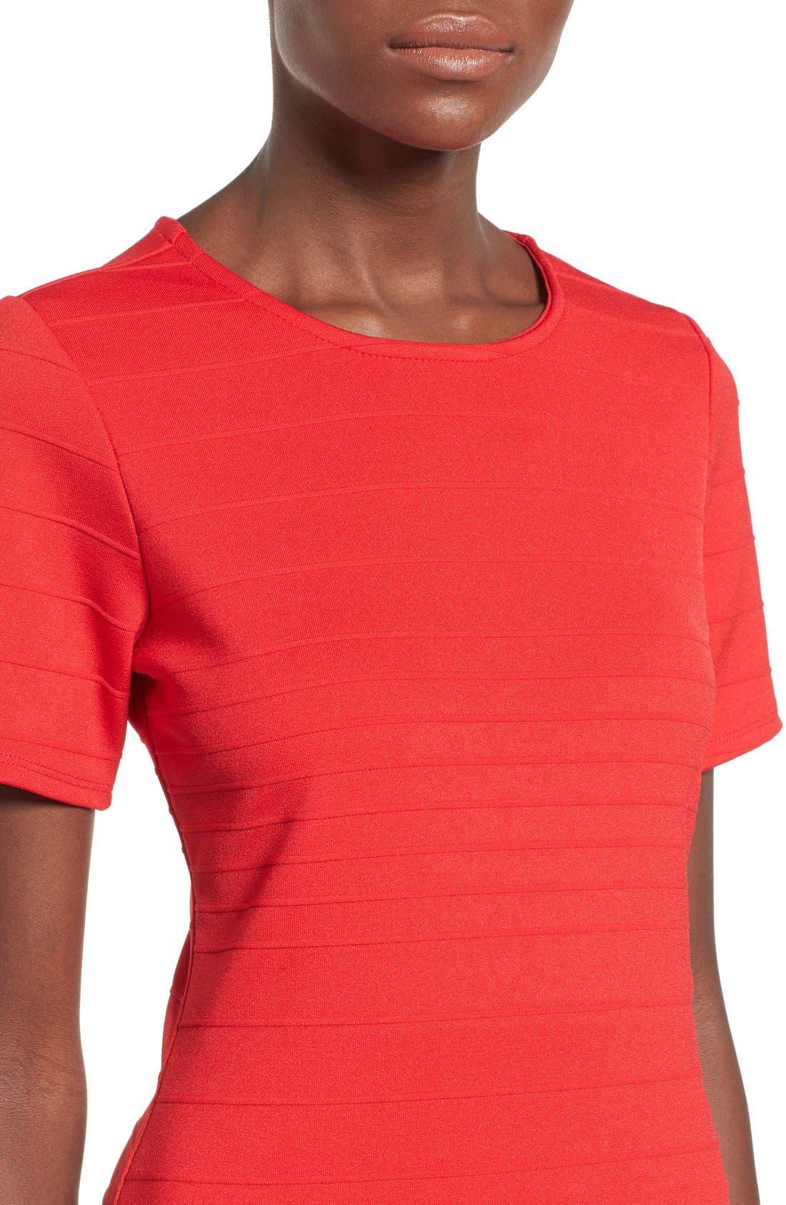 Alternate Image 4  - June & Hudson Short Sleeve Asymmetrical Wrap Front Dress