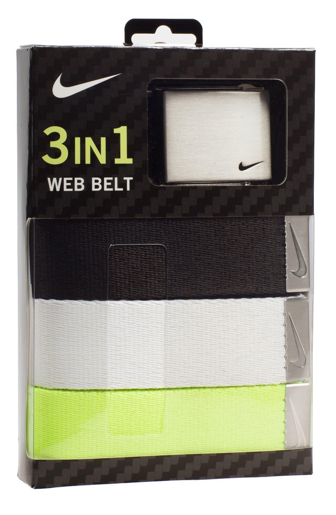 Alternate Image 1 Selected - Nike Web Belts (3-Pack)