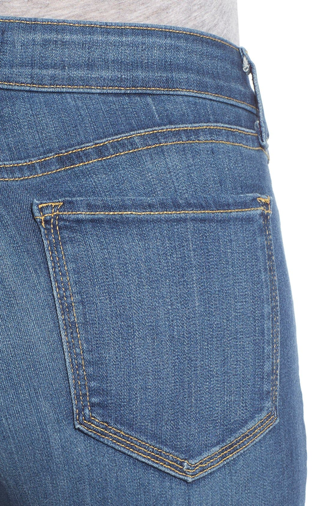 'Marilyn' Stretch Straight Leg Jeans,                             Alternate thumbnail 4, color,                             Anderson