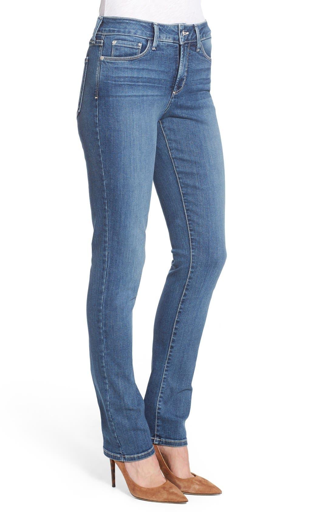 Alternate Image 3  - NYDJ 'Samantha' Stretch Slim Straight Leg Jeans (Heyburn) (Regular & Petite)