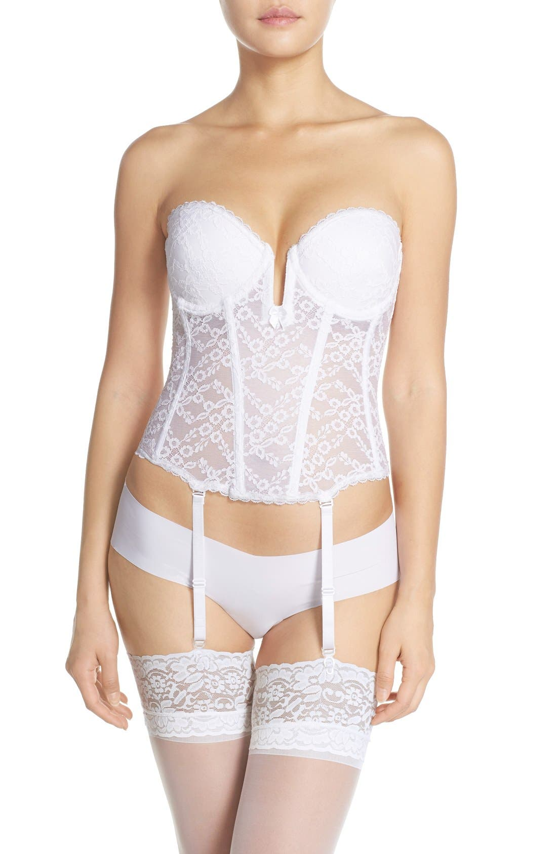 Push-Up Bustier,                         Main,                         color, White