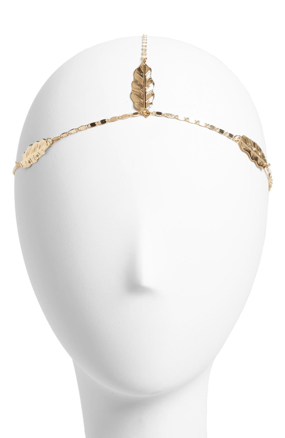 Main Image - Berry 'Leaf' Beaded Head Chain