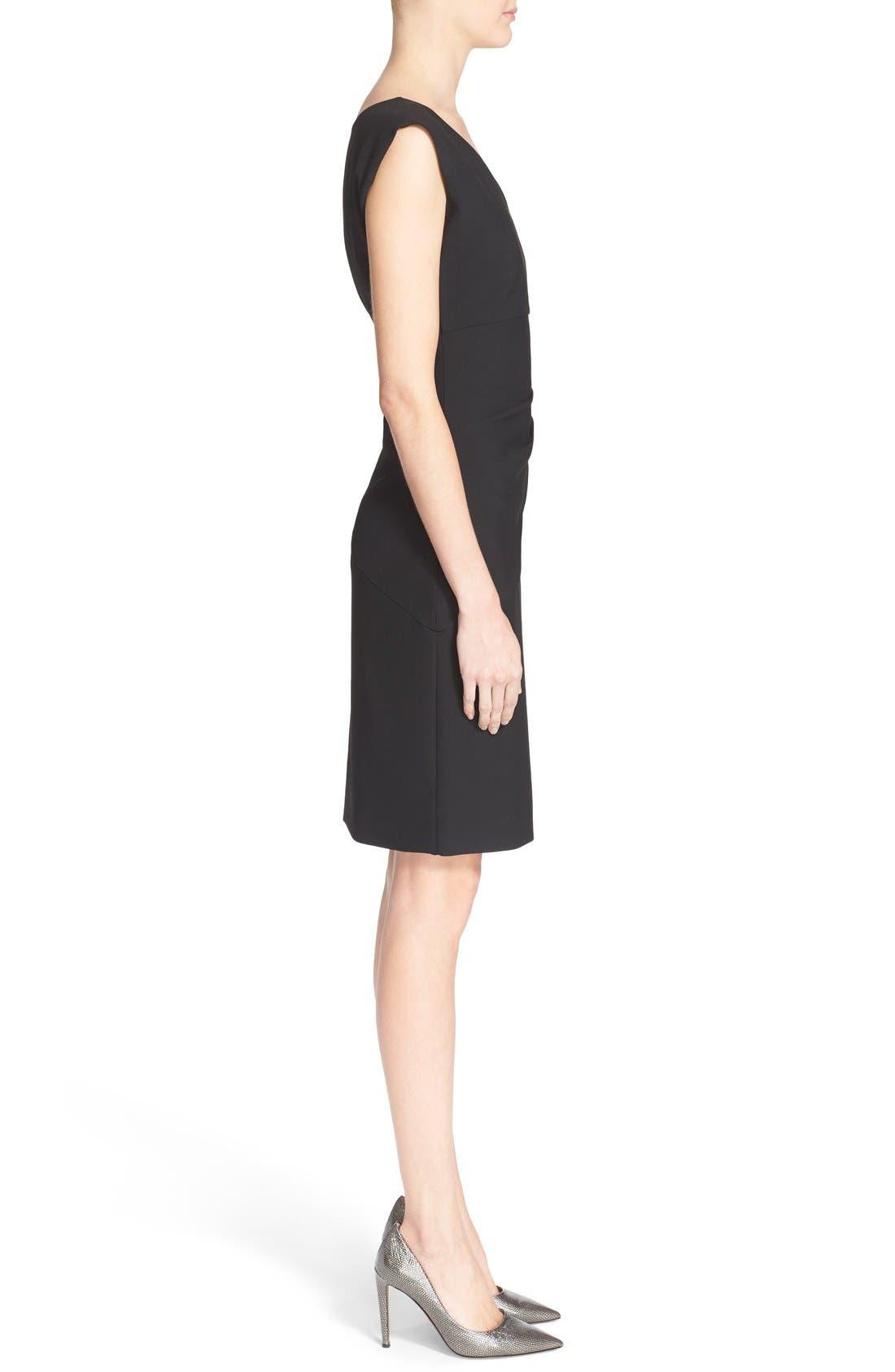 'Bevin' Sheath Dress,                             Alternate thumbnail 3, color,                             Black