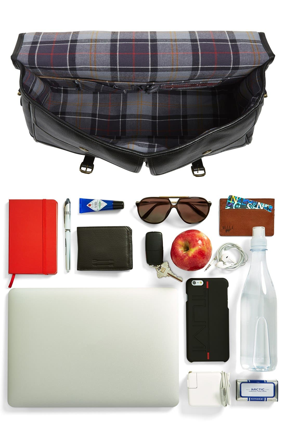 Leather Briefcase,                             Alternate thumbnail 7, color,