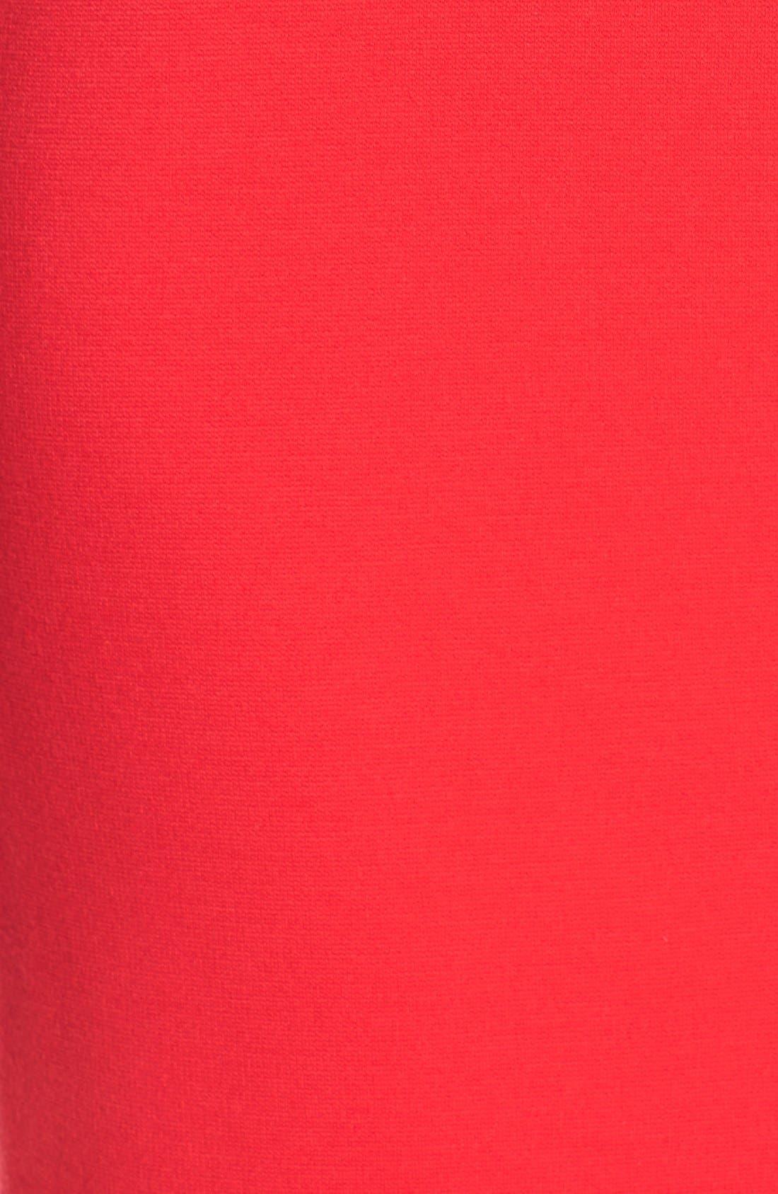 V-Neck Crepe Sheath Dress,                             Alternate thumbnail 5, color,                             Salsa