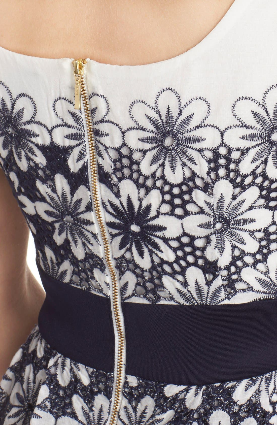 Alternate Image 5  - Taylor Dresses Embroidered Fit & Flare Dress
