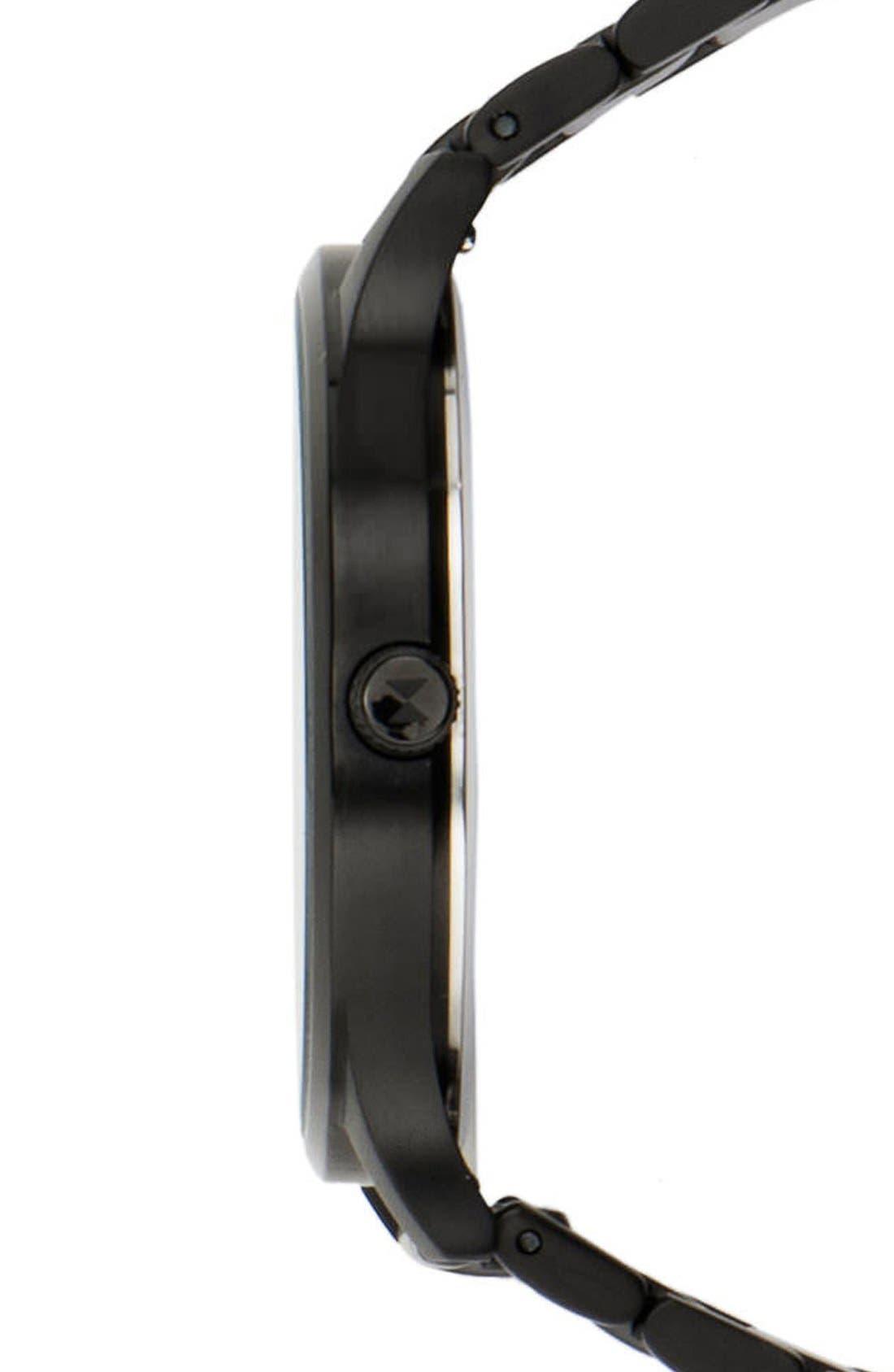 Bracelet Watch, 40mm,                             Alternate thumbnail 3, color,                             Black/ Black