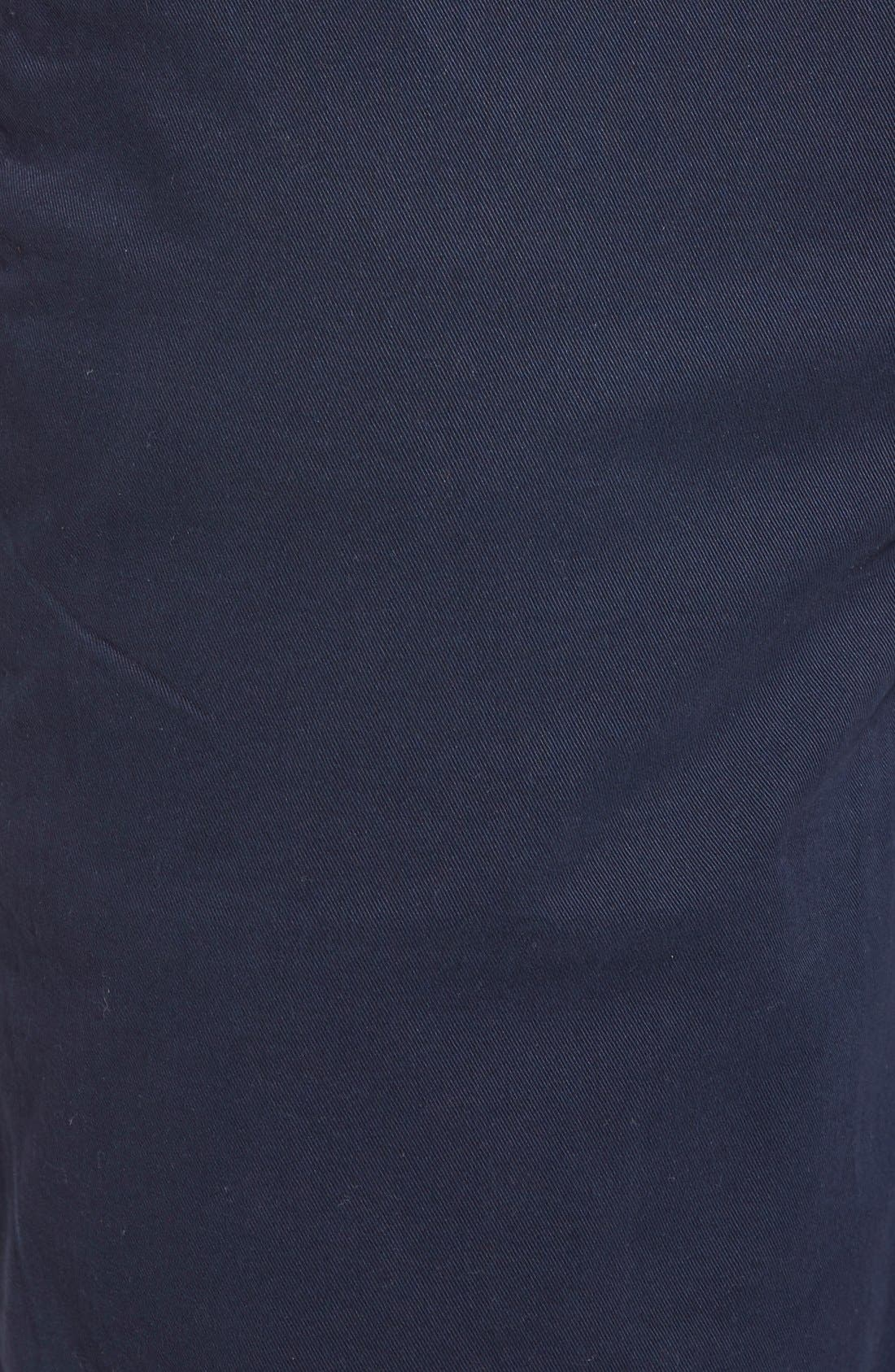'Thompson' Slim Fit Shorts,                             Alternate thumbnail 5, color,                             Navy Cadet