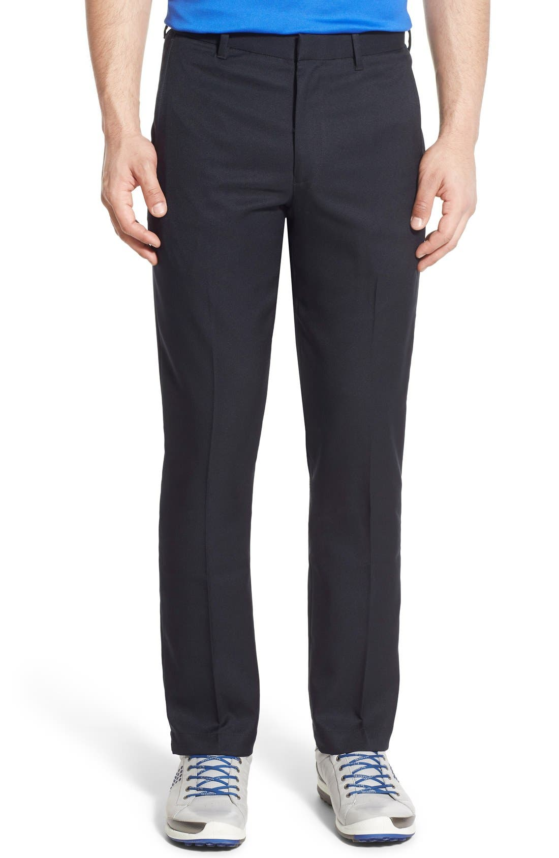 'TECH' FLAT FRONT WRINKLE FREE GOLF PANTS