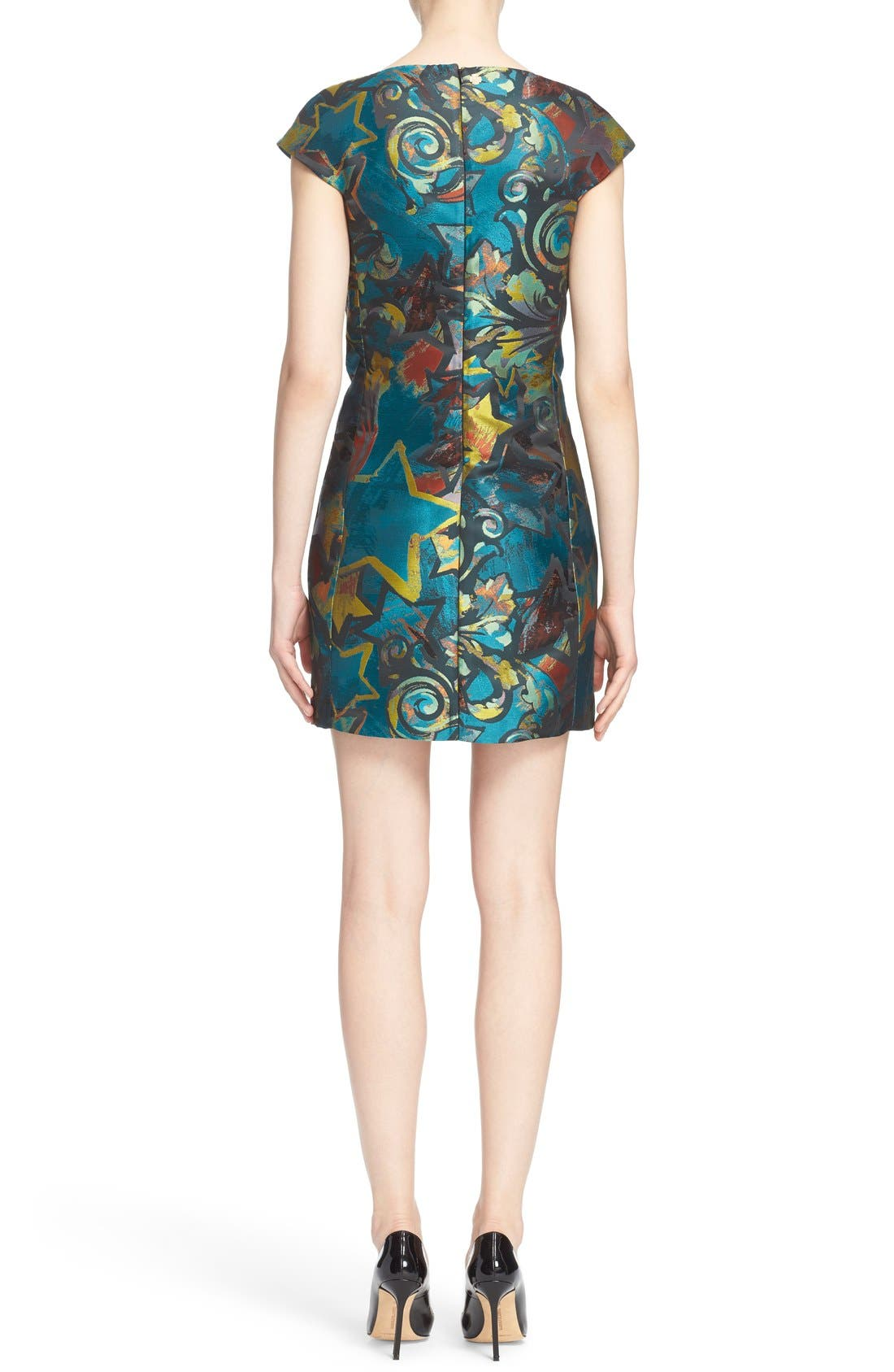 Alternate Image 2  - Versace Collection Jacquard Dress