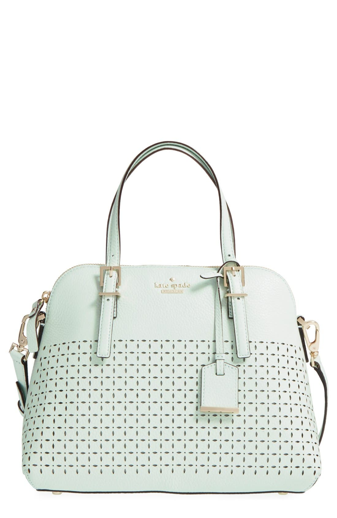 Main Image - kate spade new york 'milton lane - maise' perforated leather satchel (Nordstrom Exclusive)