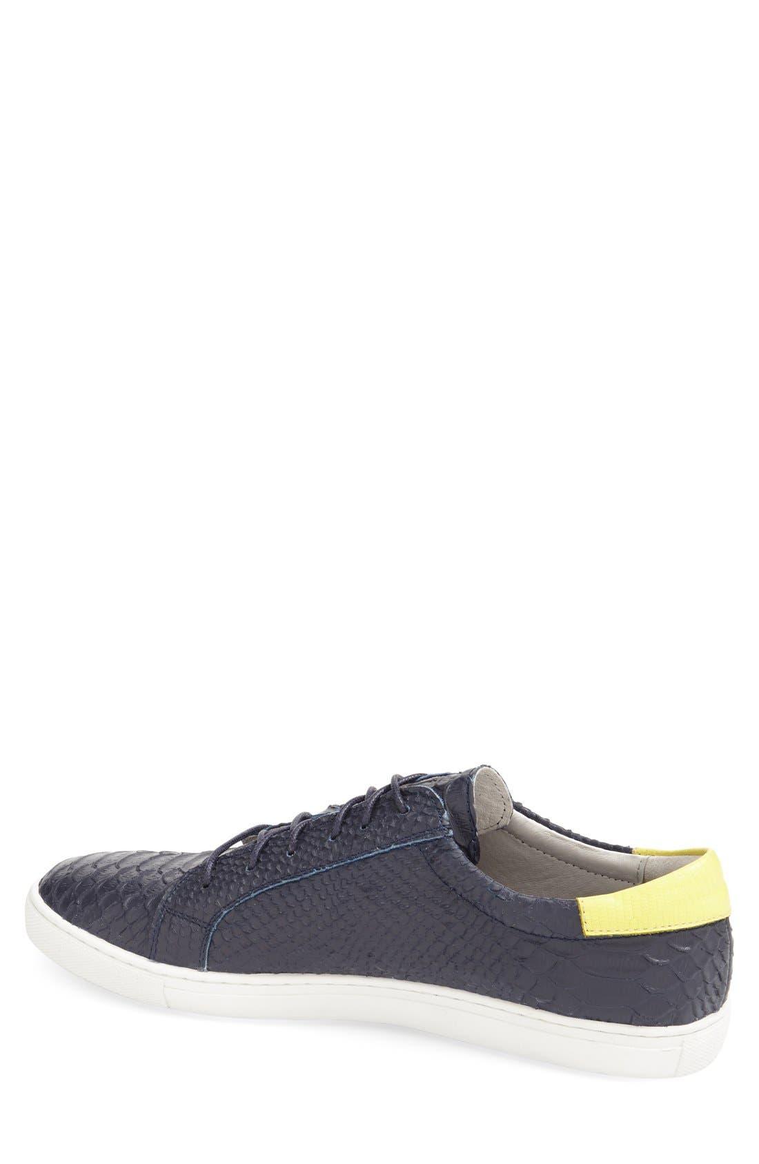 'Riff' Sneaker,                             Alternate thumbnail 4, color,                             Navy Leather