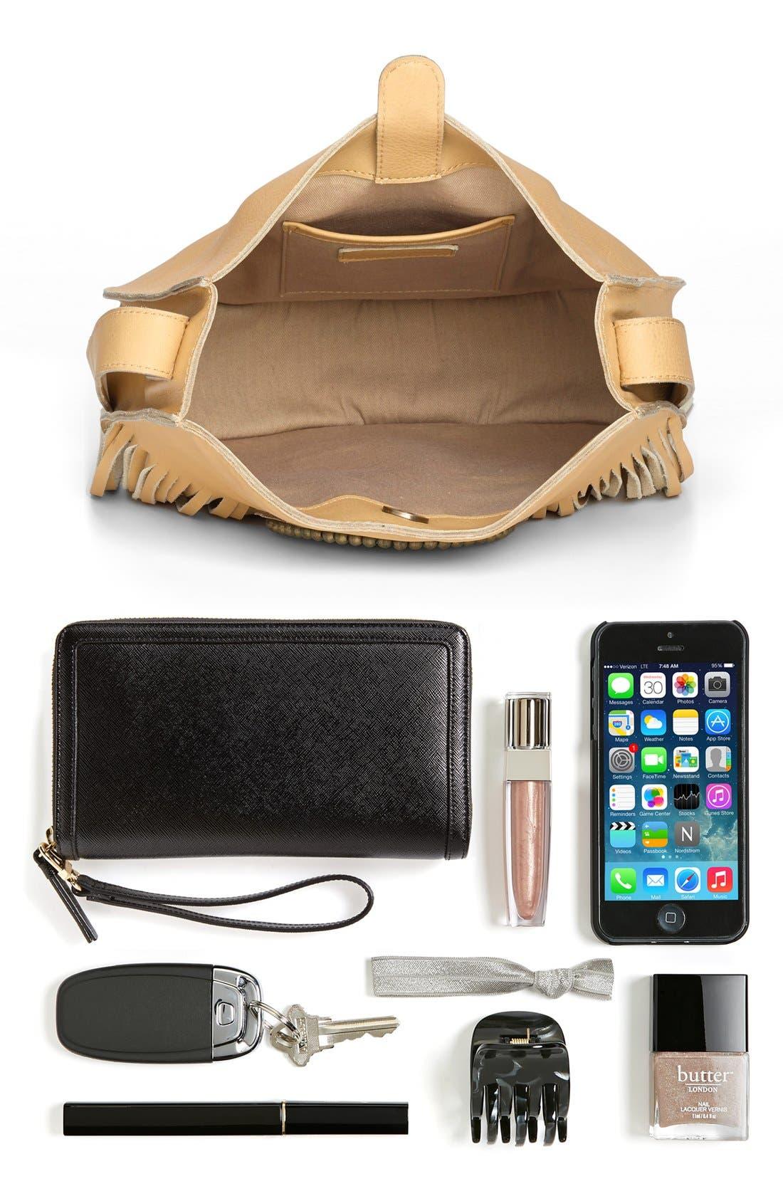 Alternate Image 8  - Sam Edelman 'Karina' Fringe Leather Shoulder Bag