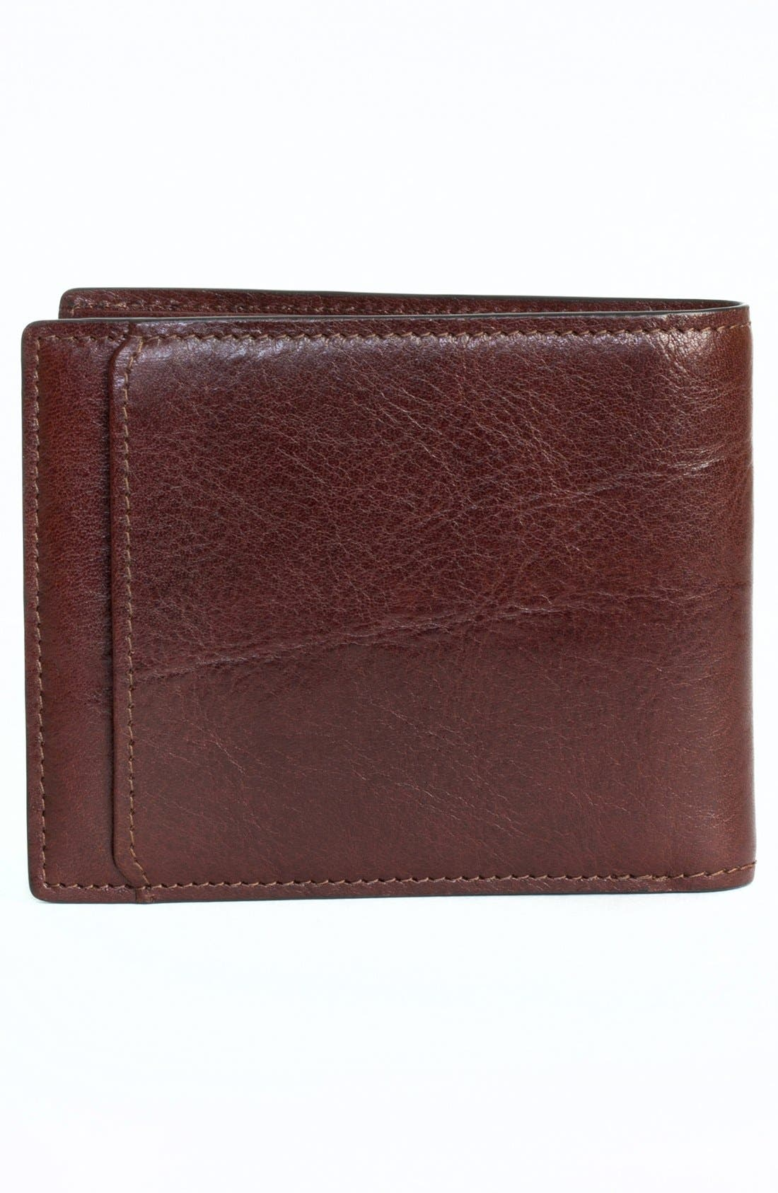 'Becker' Leather Wallet,                             Alternate thumbnail 4, color,                             Whiskey
