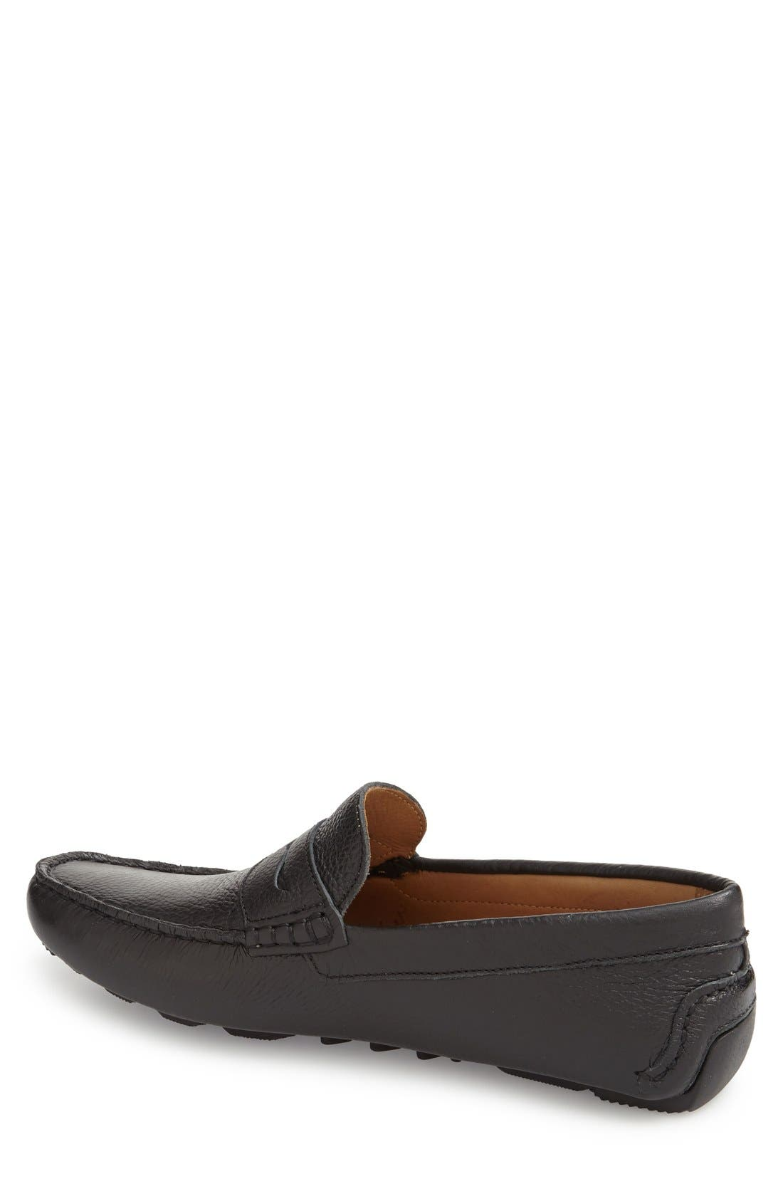 'Bermuda' Penny Loafer,                             Alternate thumbnail 2, color,                             Black Leather