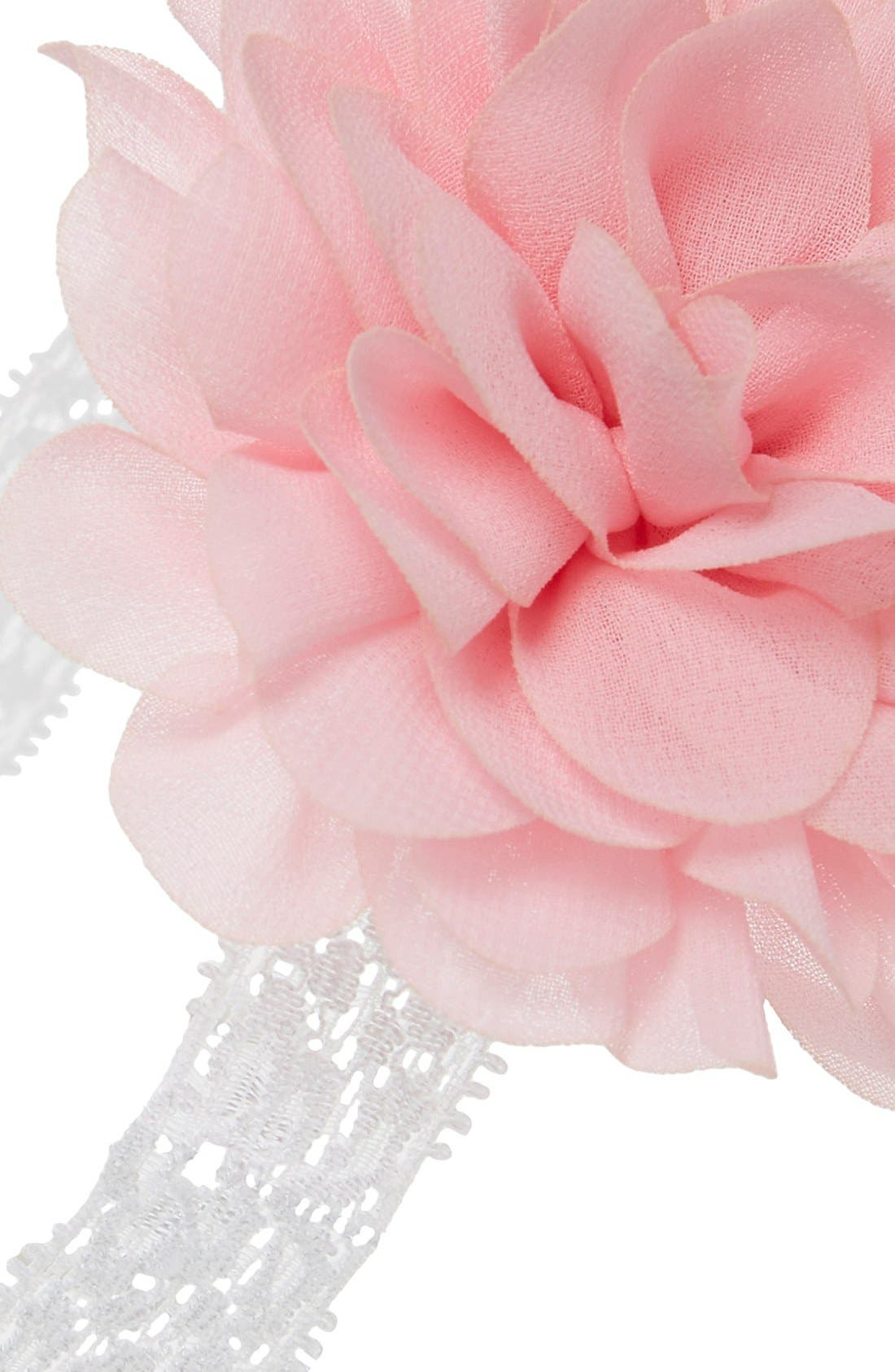 Mum Embellished Lace Head Wrap,                             Alternate thumbnail 2, color,                             Pink