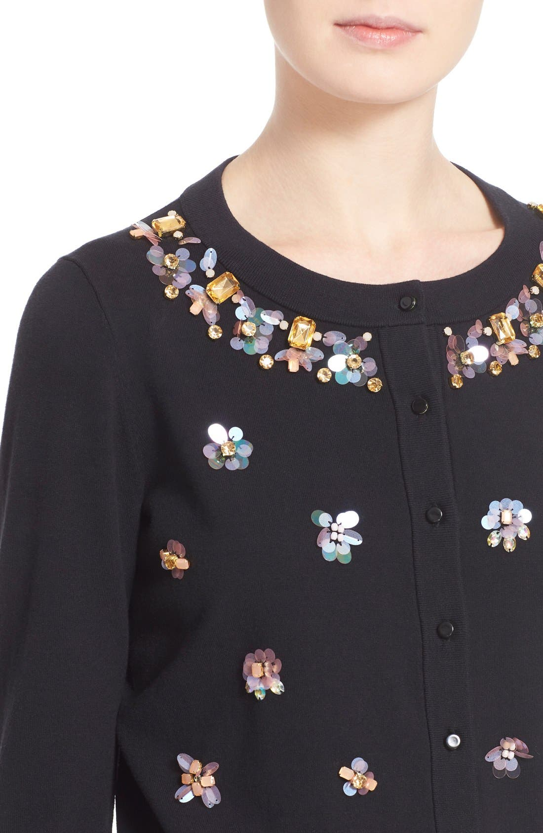 Alternate Image 4  - kate spade new york embellished cardigan