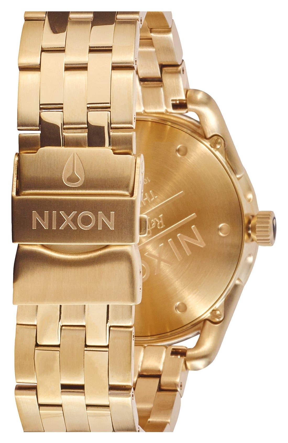 'C39' Bracelet Watch, 39mm,                             Alternate thumbnail 2, color,                             Gold/ Black