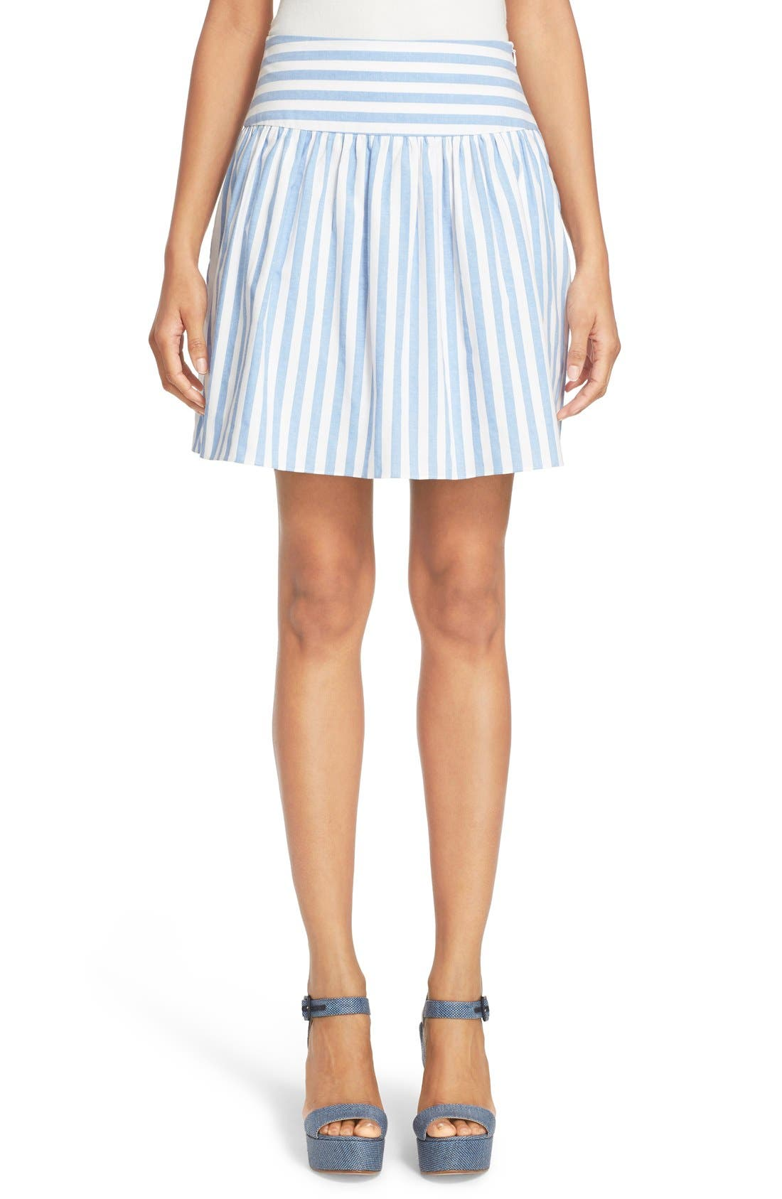 Alternate Image 1 Selected - Milly Breton Stripe A-Line Skirt