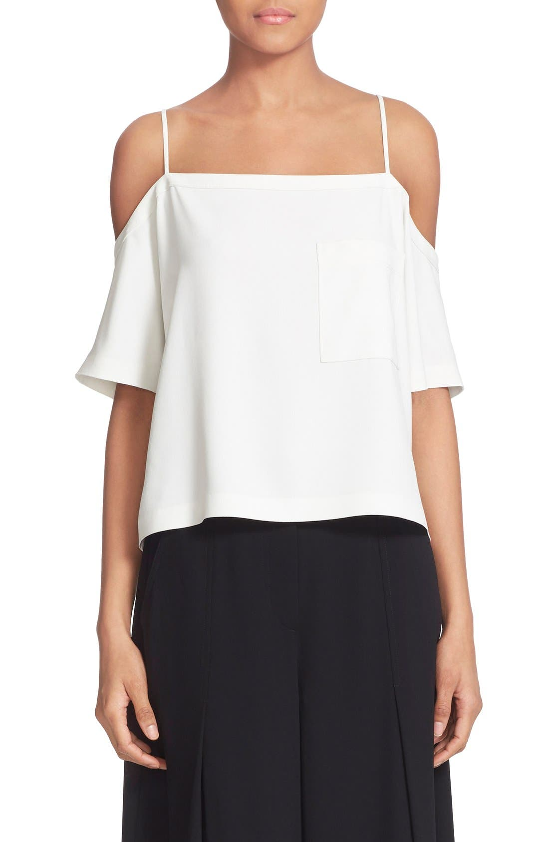 Alternate Image 1 Selected - T by Alexander Wang Cold Shoulder Crop Top