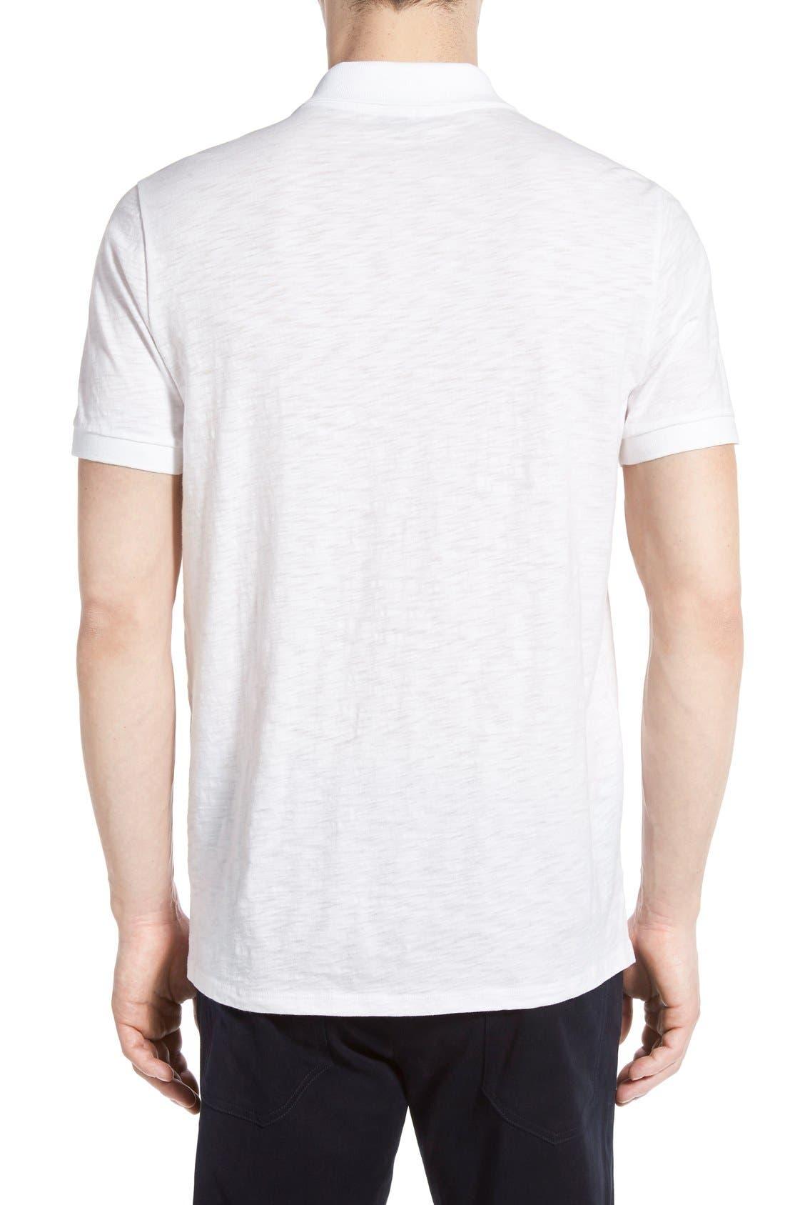 Slub Cotton Polo,                             Alternate thumbnail 2, color,                             White