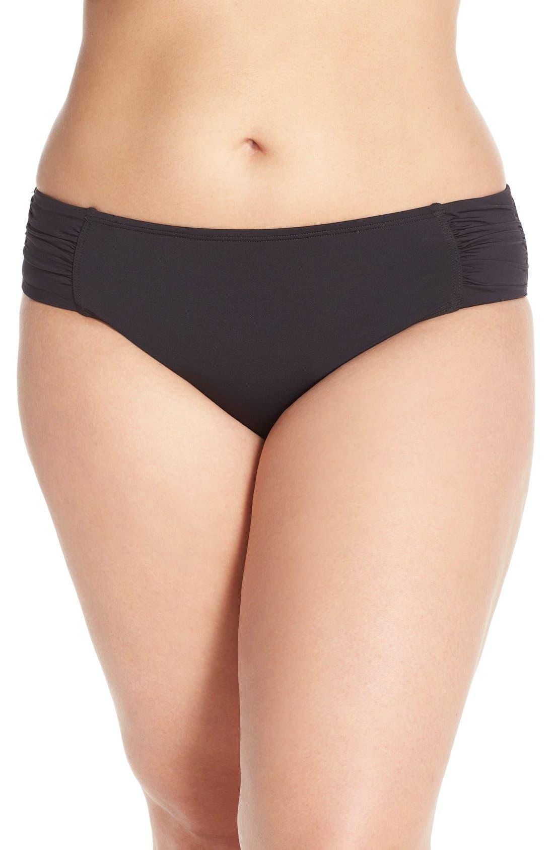 'Pearl' Bikini Bottoms,                         Main,                         color, Black