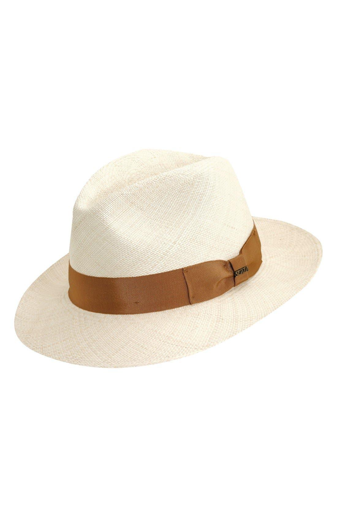 Straw Safari Hat,                         Main,                         color, Natural