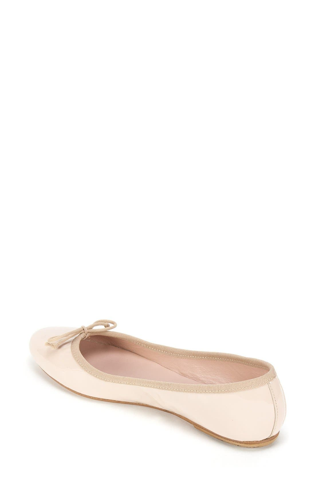 'Kendall' Ballet Flat,                             Alternate thumbnail 2, color,                             Nude Patent Leather