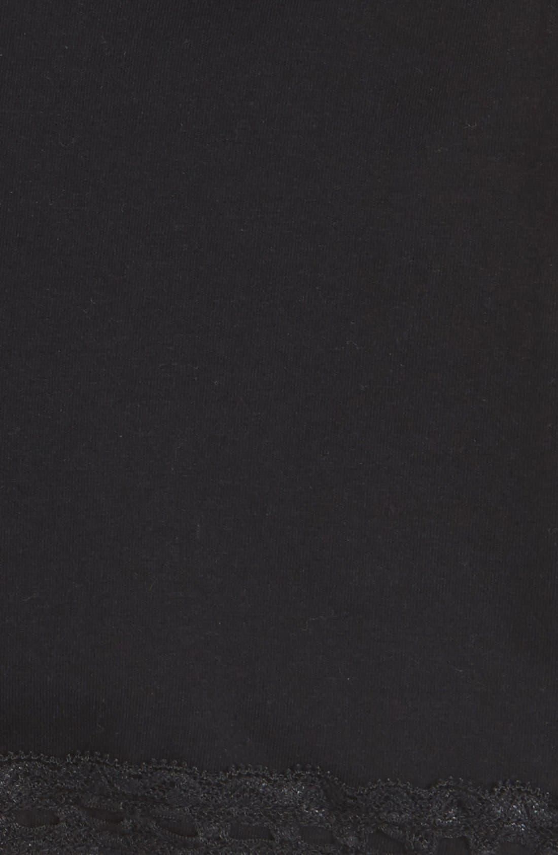 Lace Trim Bike Shorts,                             Alternate thumbnail 2, color,                             Black