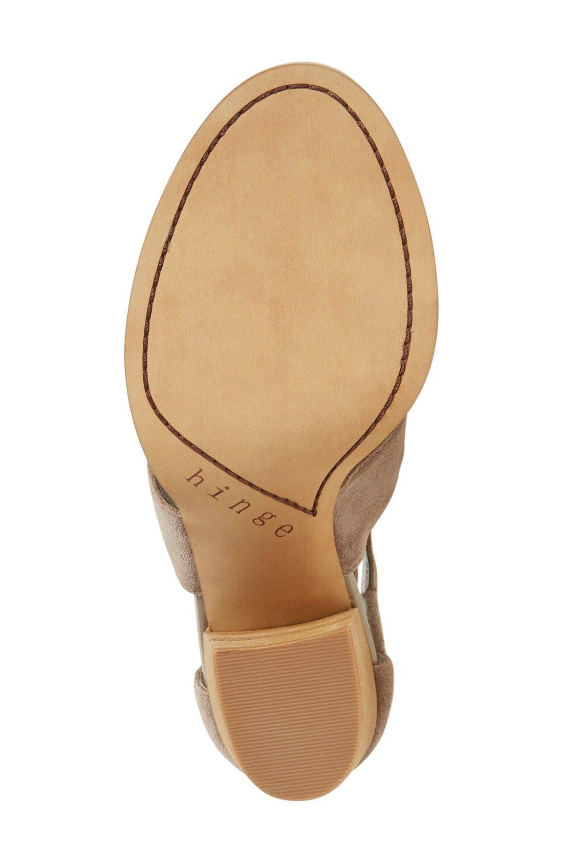 Alternate Image 4  - Hinge 'Cora' Block Heel Sandal (Women)