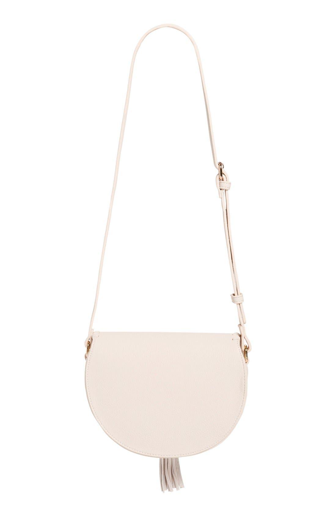 Alternate Image 5  - Street Level Tassel Flap Crossbody Bag