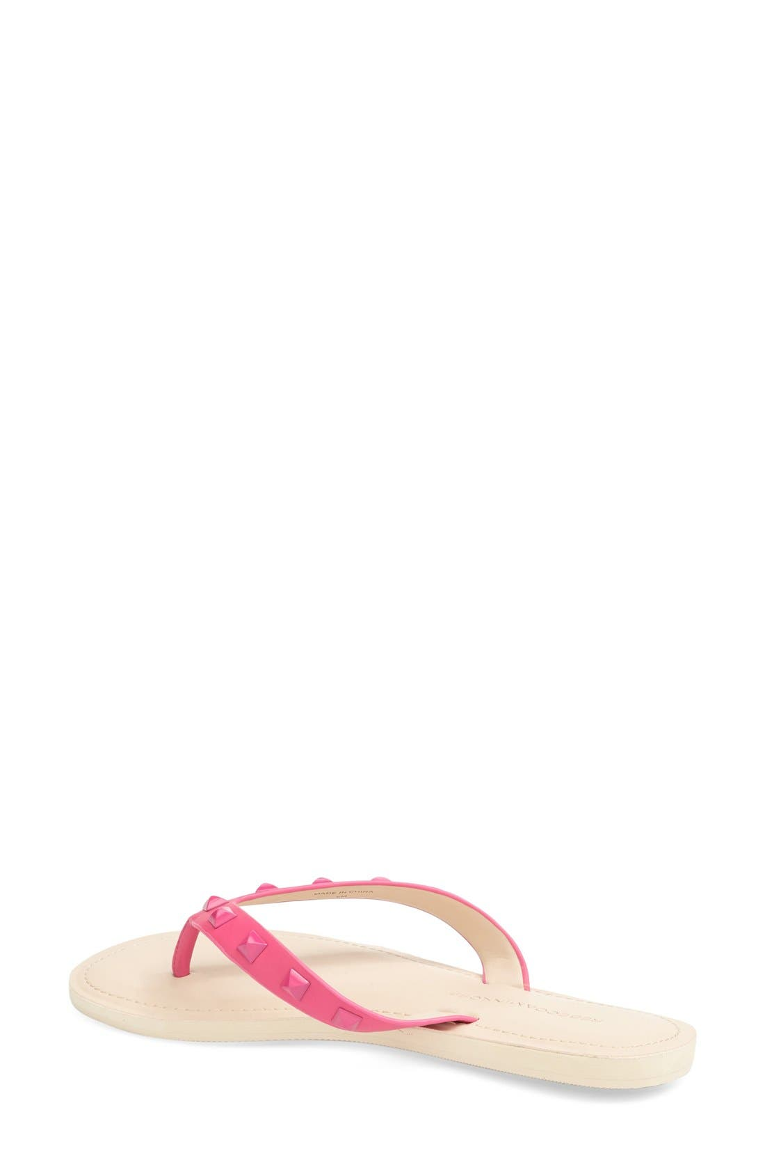 'Fiona' Thong Sandal,                             Alternate thumbnail 2, color,                             Fuchsia Nappa
