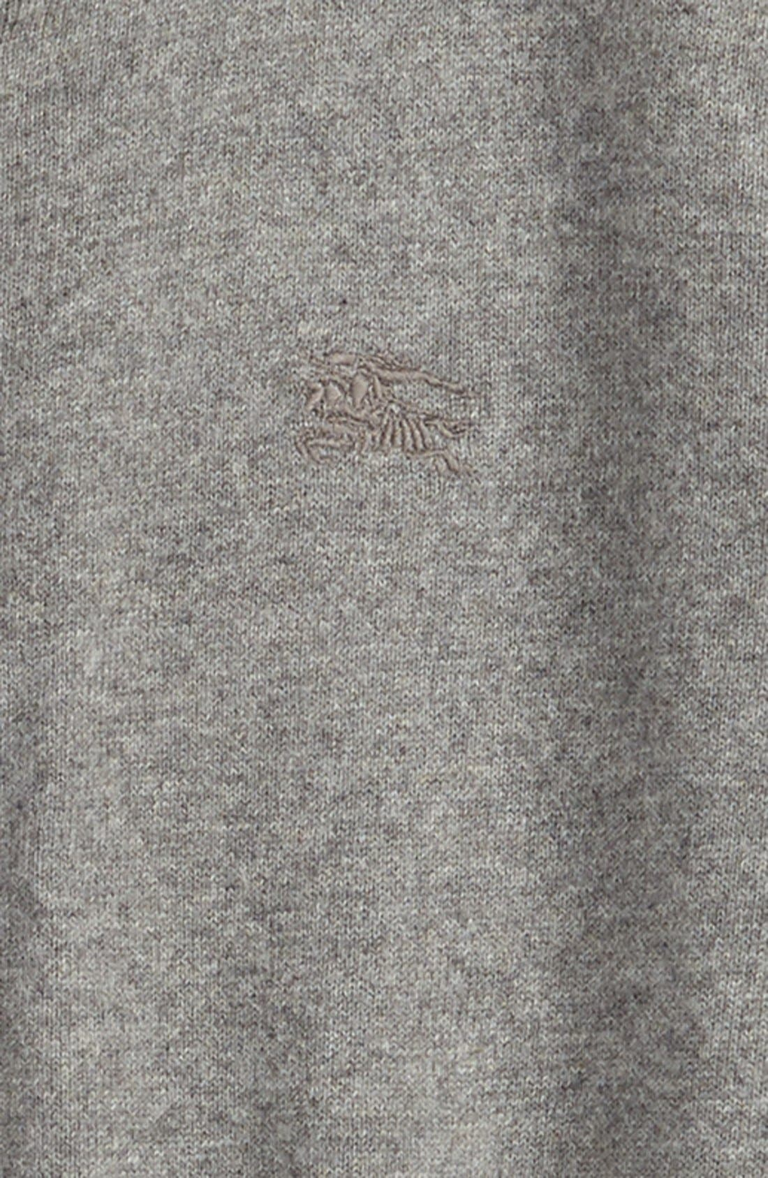 'Jaxon' Zip Front Cotton Cardigan,                             Alternate thumbnail 2, color,                             Mid Grey Melange
