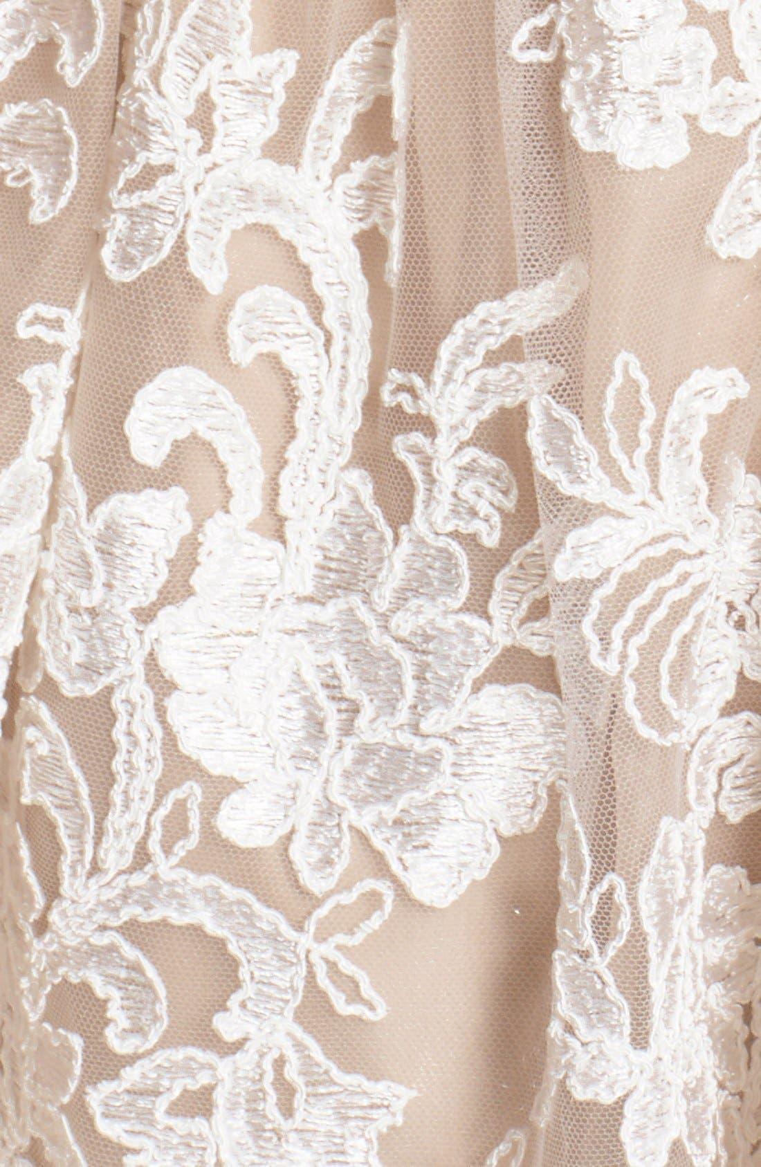 Alternate Image 5  - Alice + Olivia 'Ladonna' Lace Fit & Flare Dress
