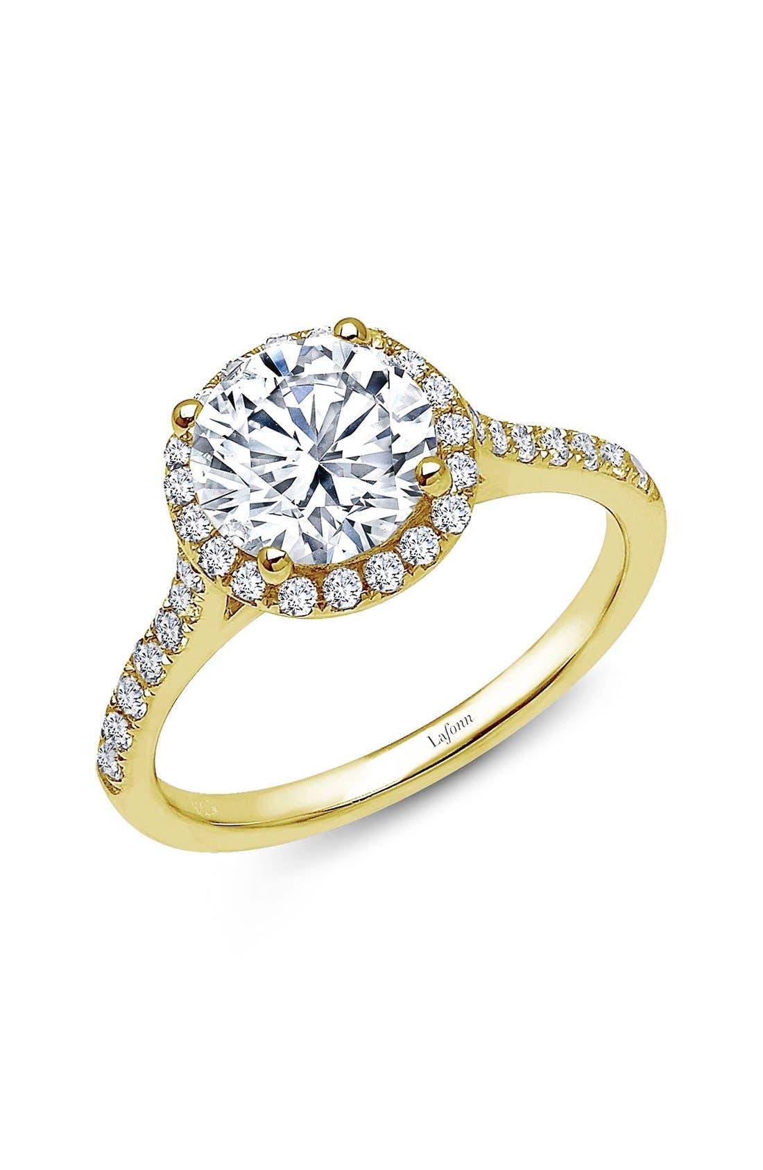 'Lassaire' Round Stone Ring,                         Main,                         color, Gold