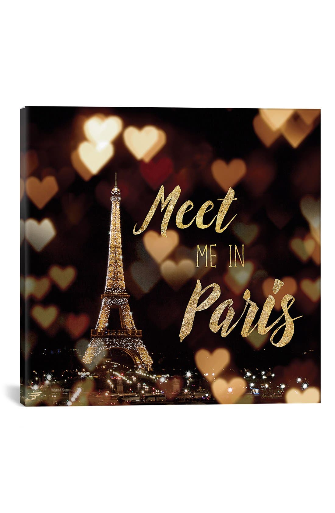 Alternate Image 1 Selected - iCanvas 'Meet Me in Paris' Giclée Print Canvas Art