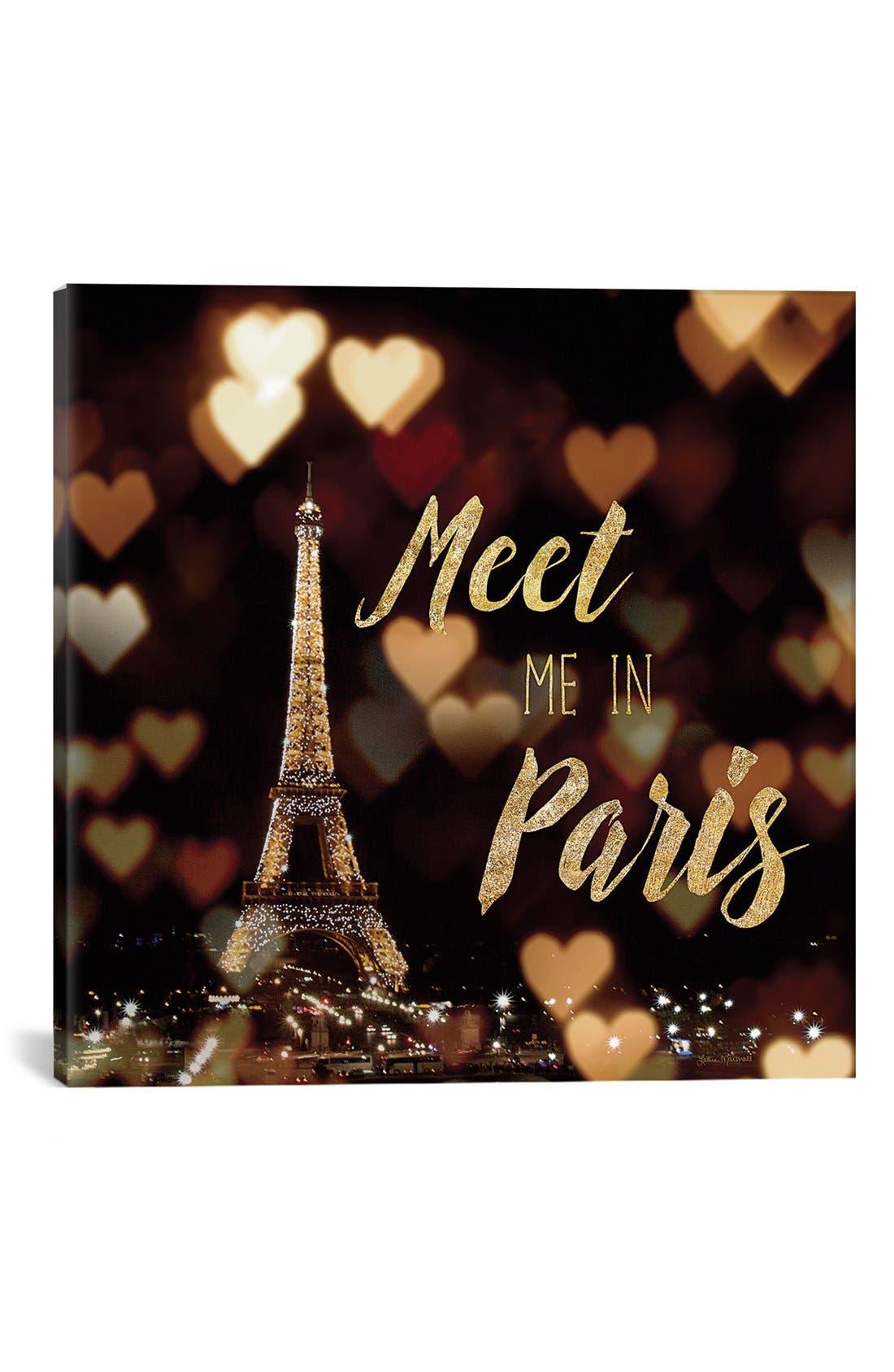 'Meet Me in Paris' Giclée Print Canvas Art,                         Main,                         color, Black