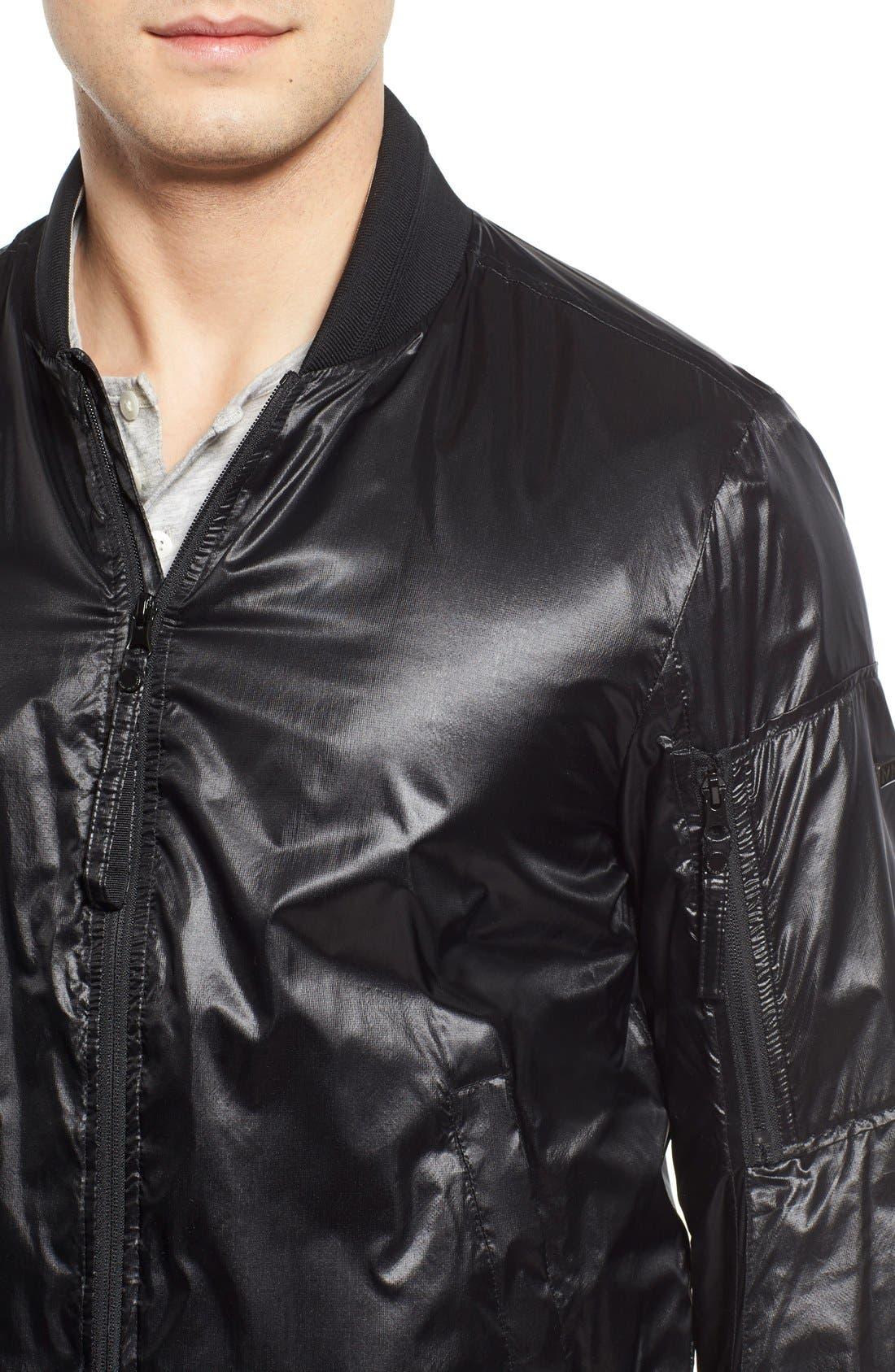 Windbreaker Bomber Jacket,                             Alternate thumbnail 2, color,                             Black