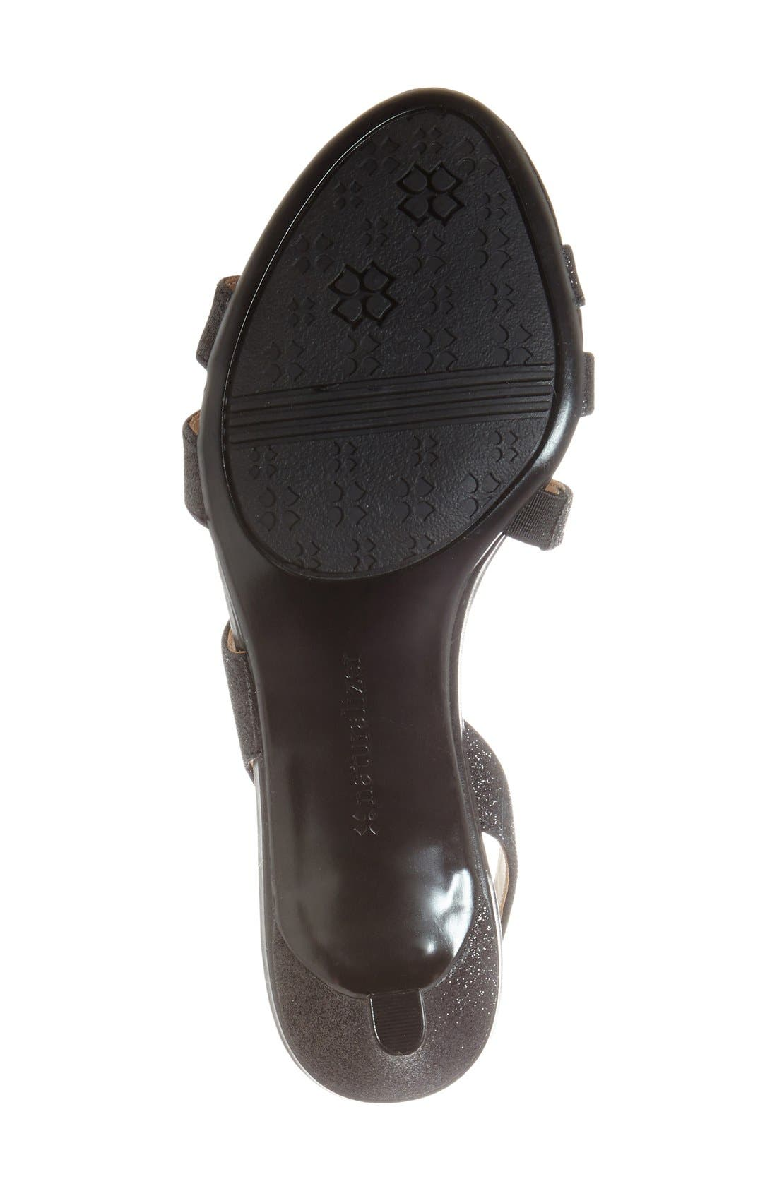 Taimi Sandal,                             Alternate thumbnail 4, color,                             Black Glitter
