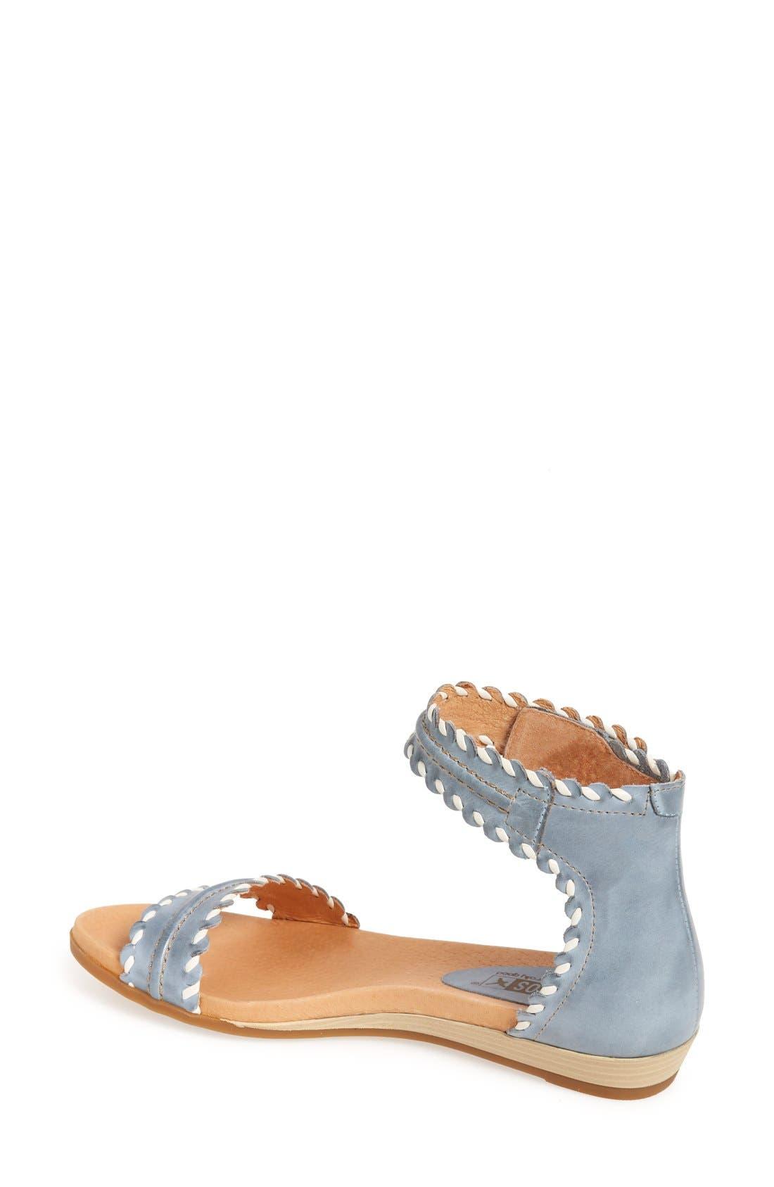 'Alcudia' Ankle Strap Sandal,                             Alternate thumbnail 2, color,                             Denim Leather
