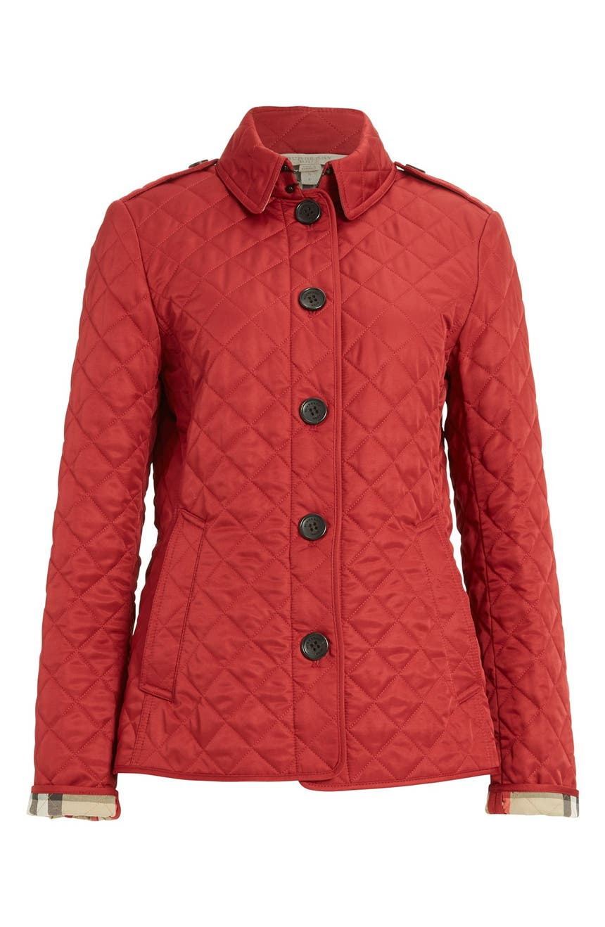 Burberry Ashurst Quilted Jacket | Nordstrom : red burberry quilted jacket - Adamdwight.com
